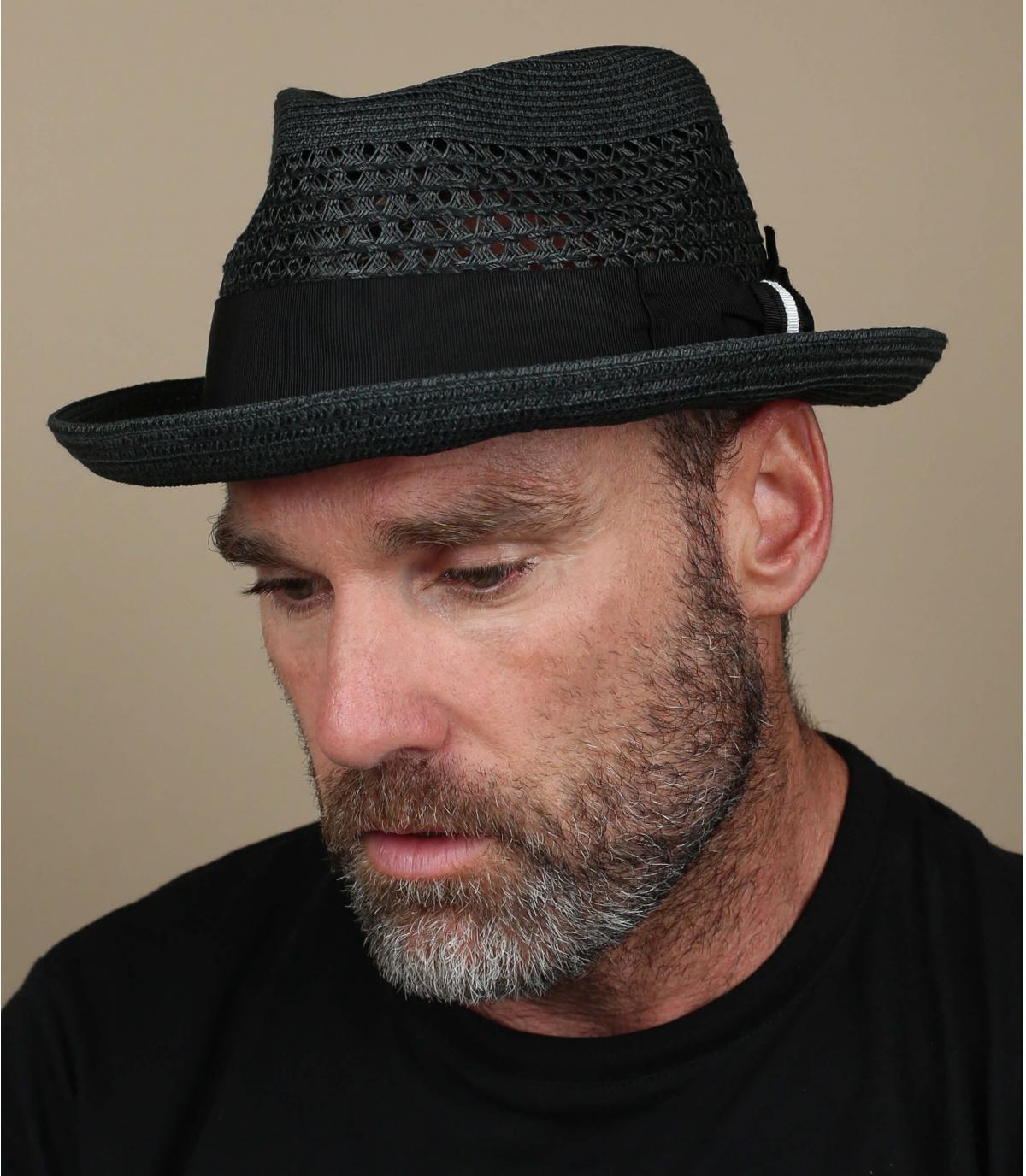 Bailey cappello di paglia nero