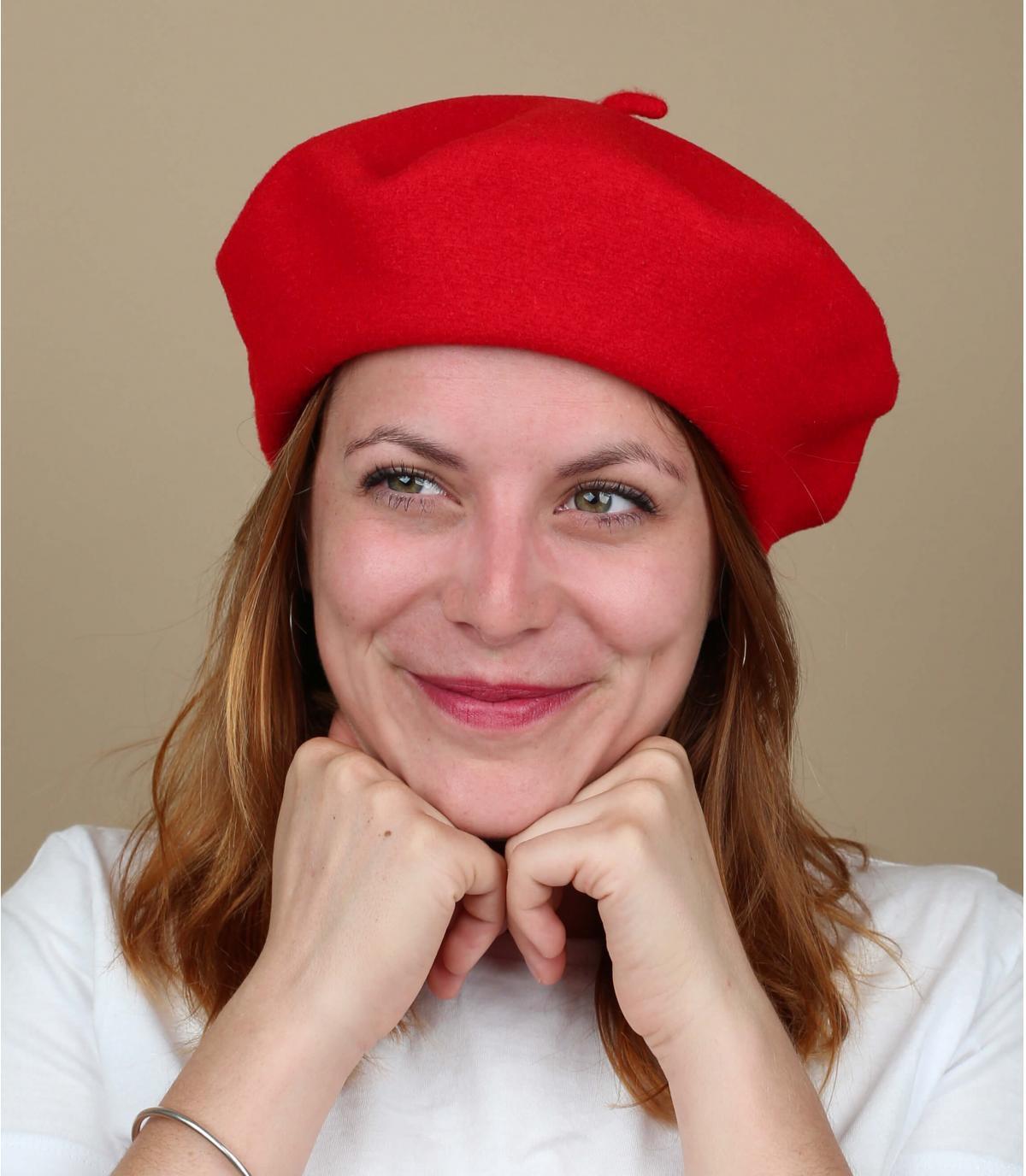 Berretto donna rosso