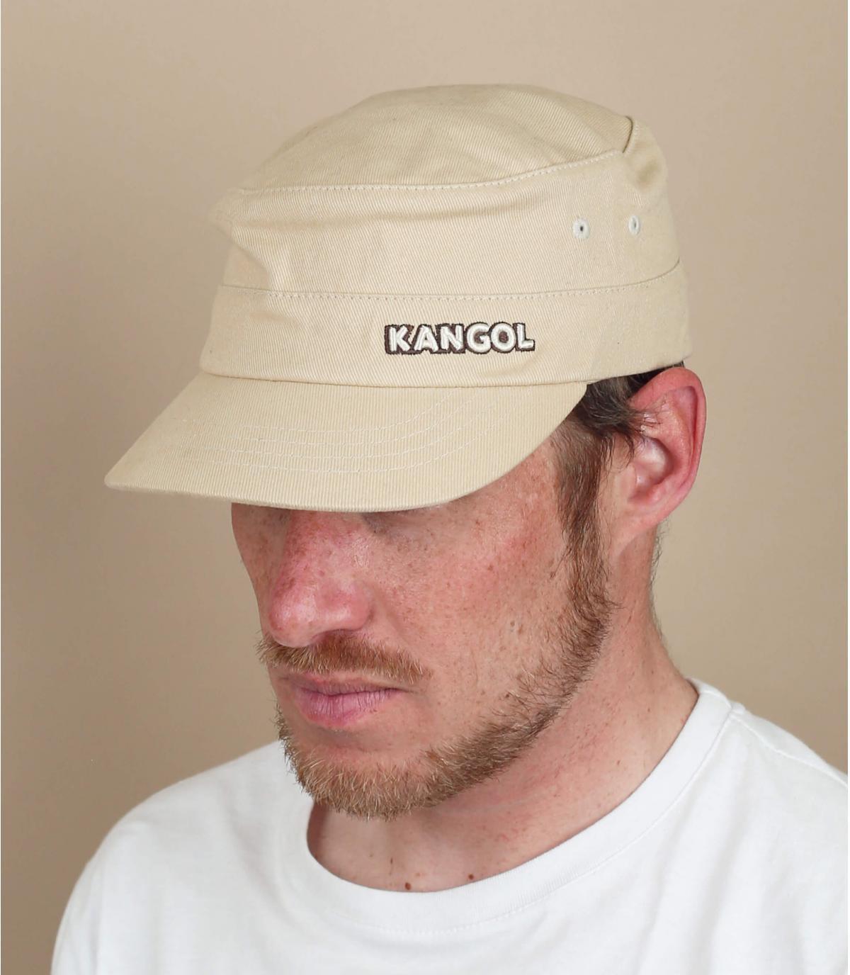 berretto militare beige Kangol