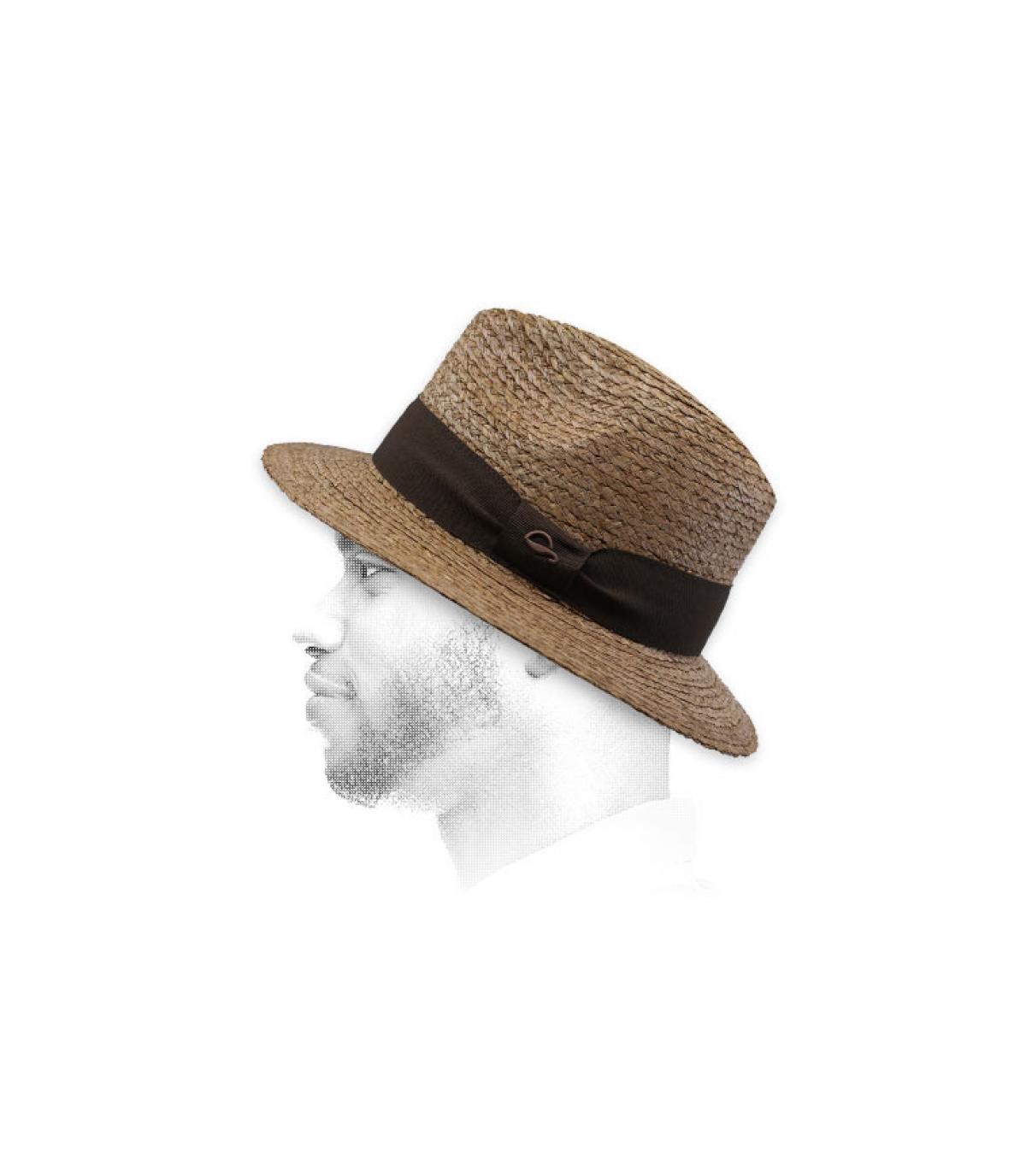treccia beige di cappello di paglia