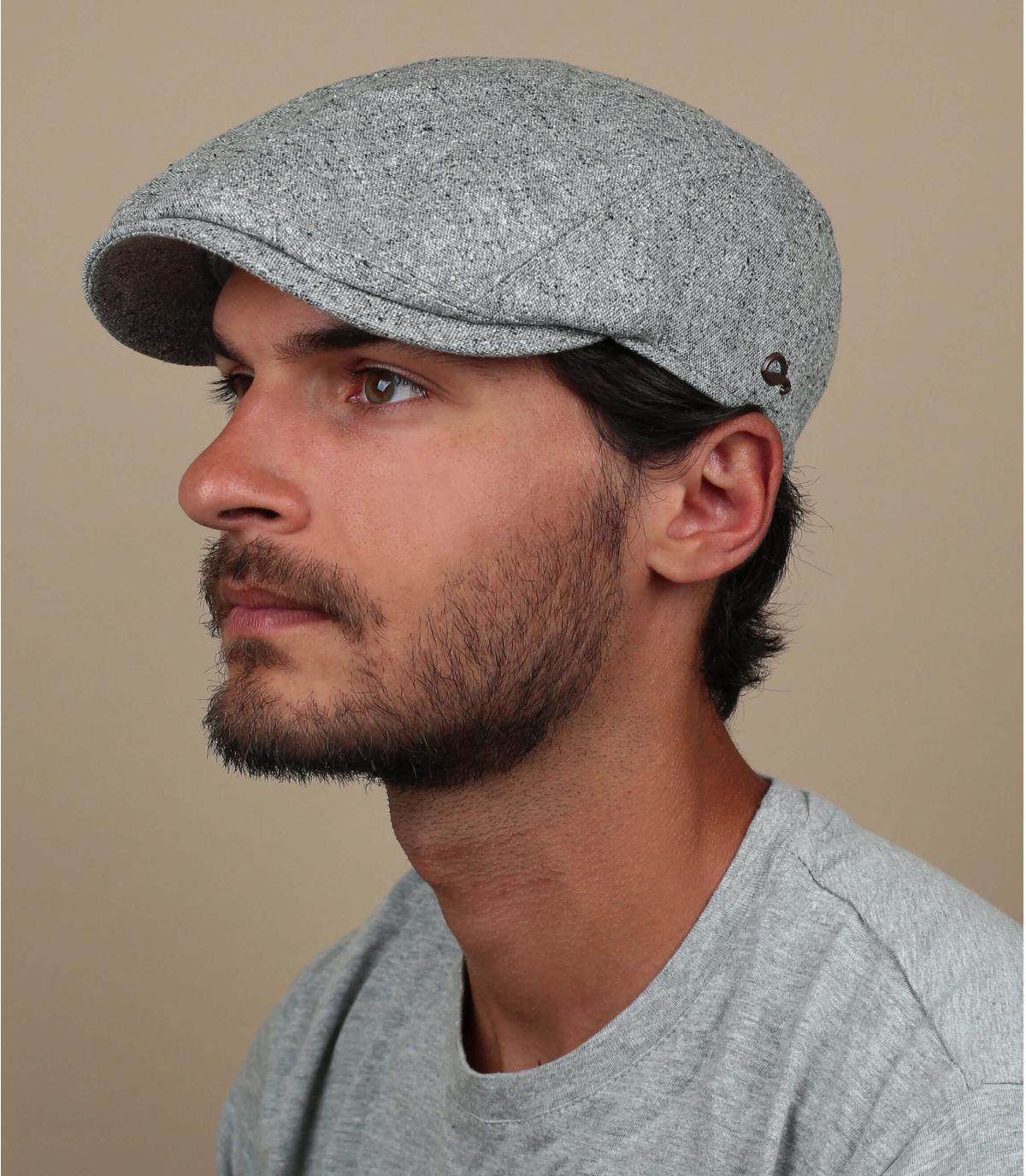 berretto grigio seta