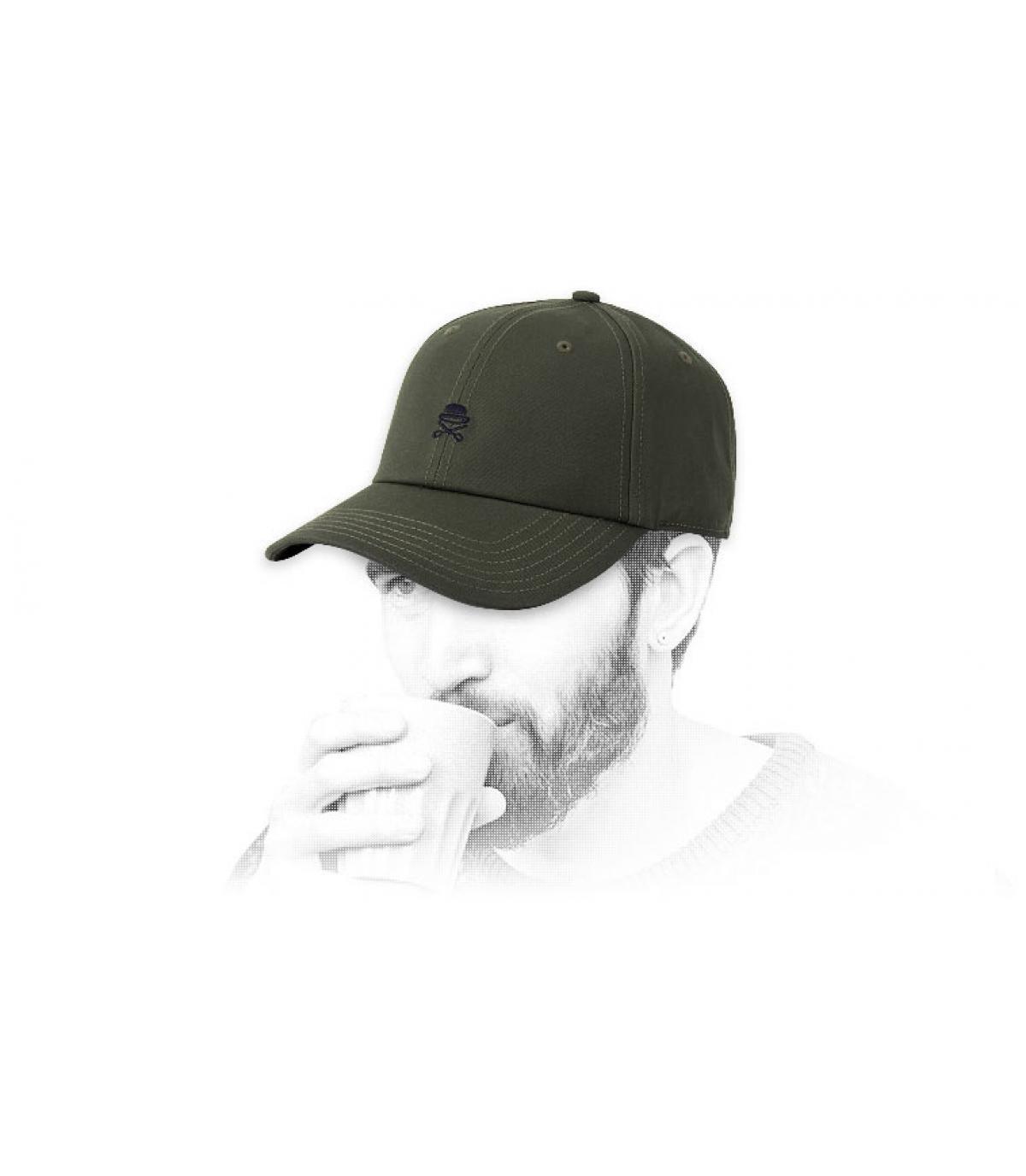Cappellino con logo Cayler verde
