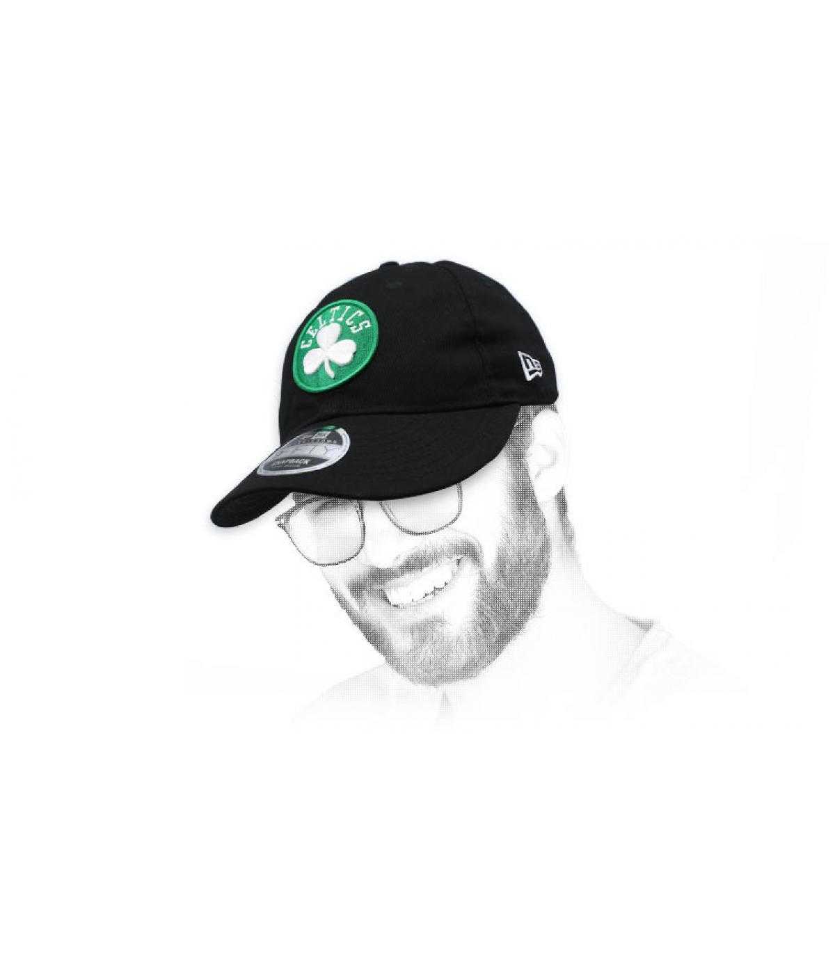 retro nero Celtics snapback