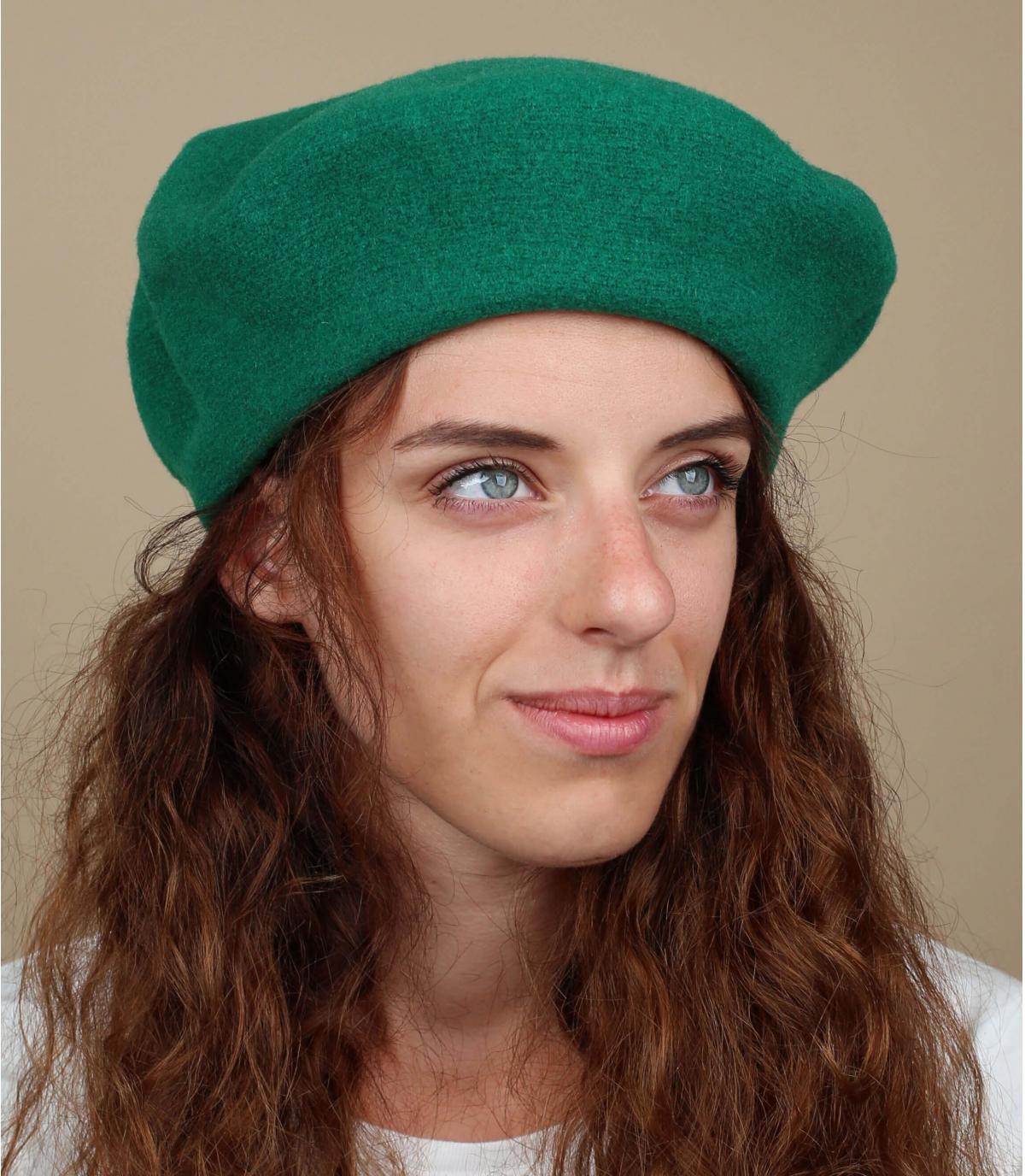 Berretto donna verde