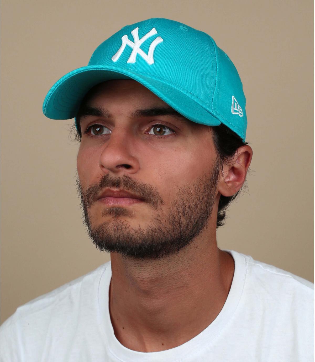 berretto NY blu