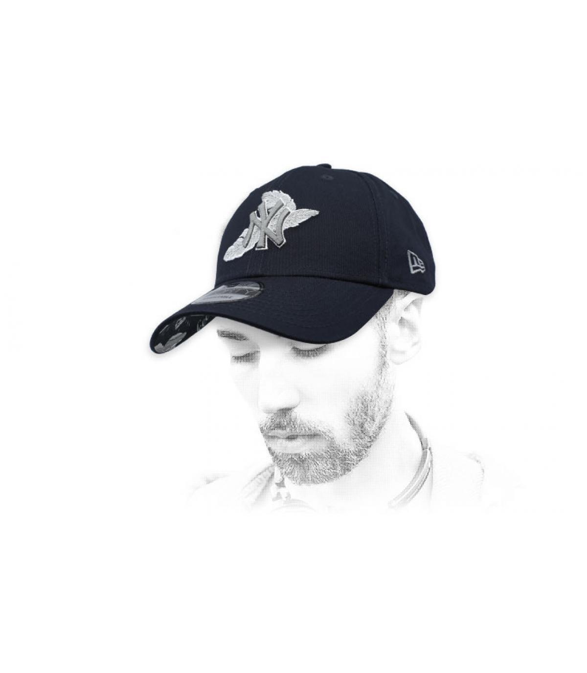 berretto nero NY