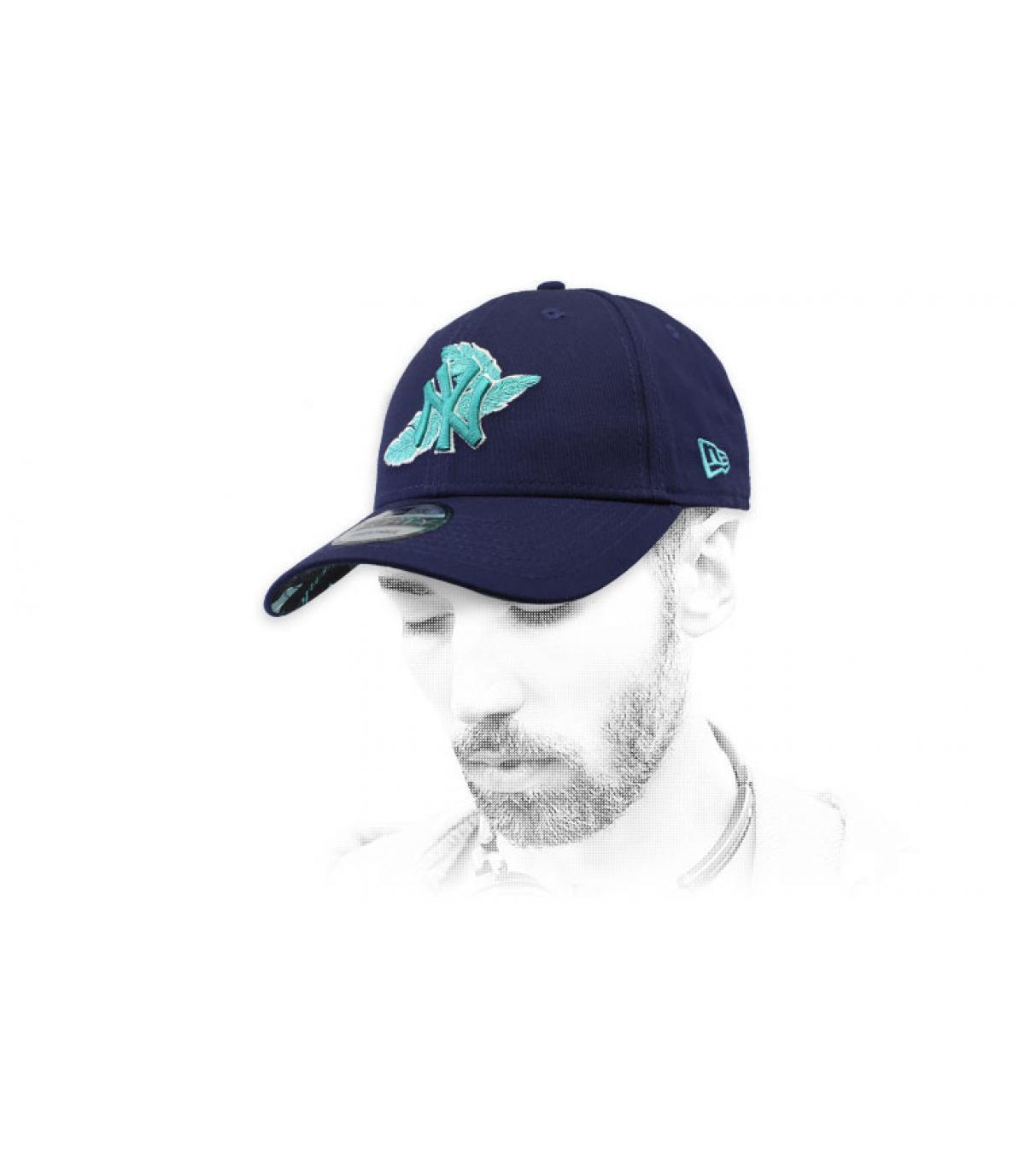NY berretto blu