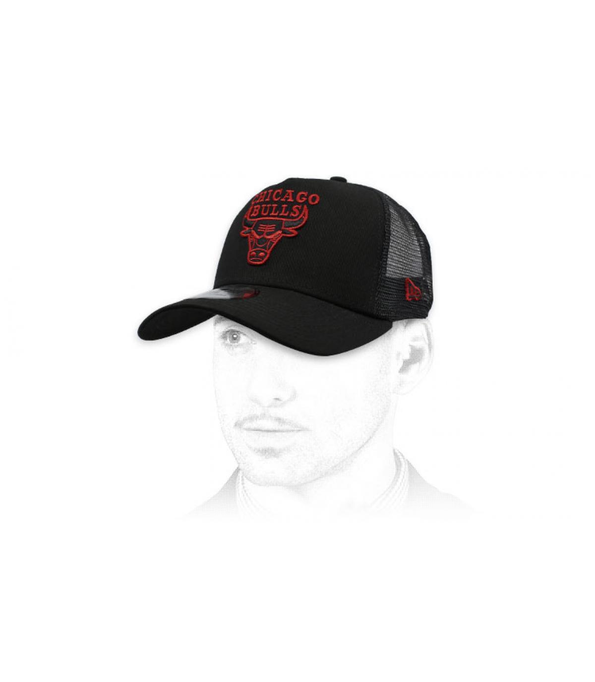 trucker Bulls nero rosso