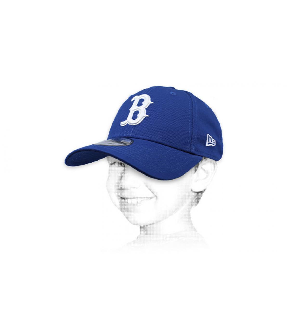 berretto da bambino B blu