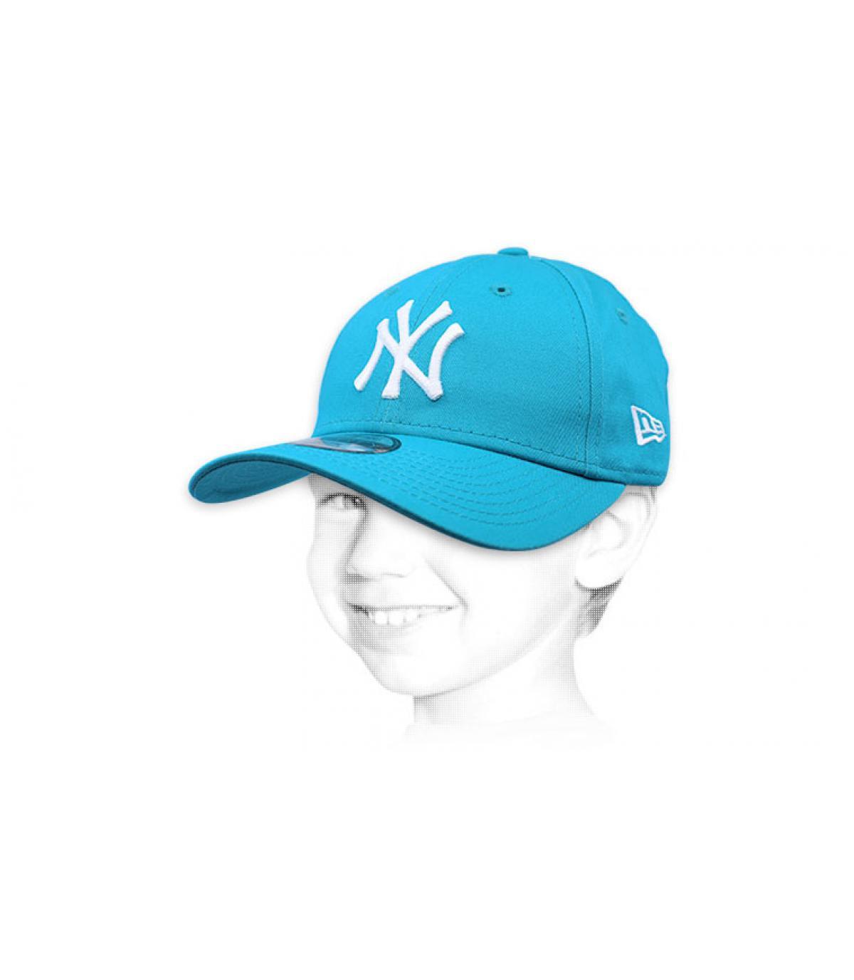 NY berretto bambino blu