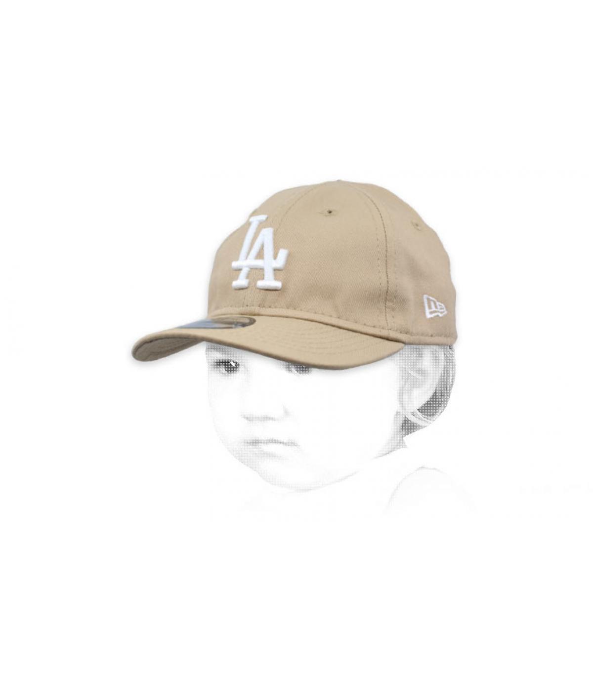 berretto beige LA