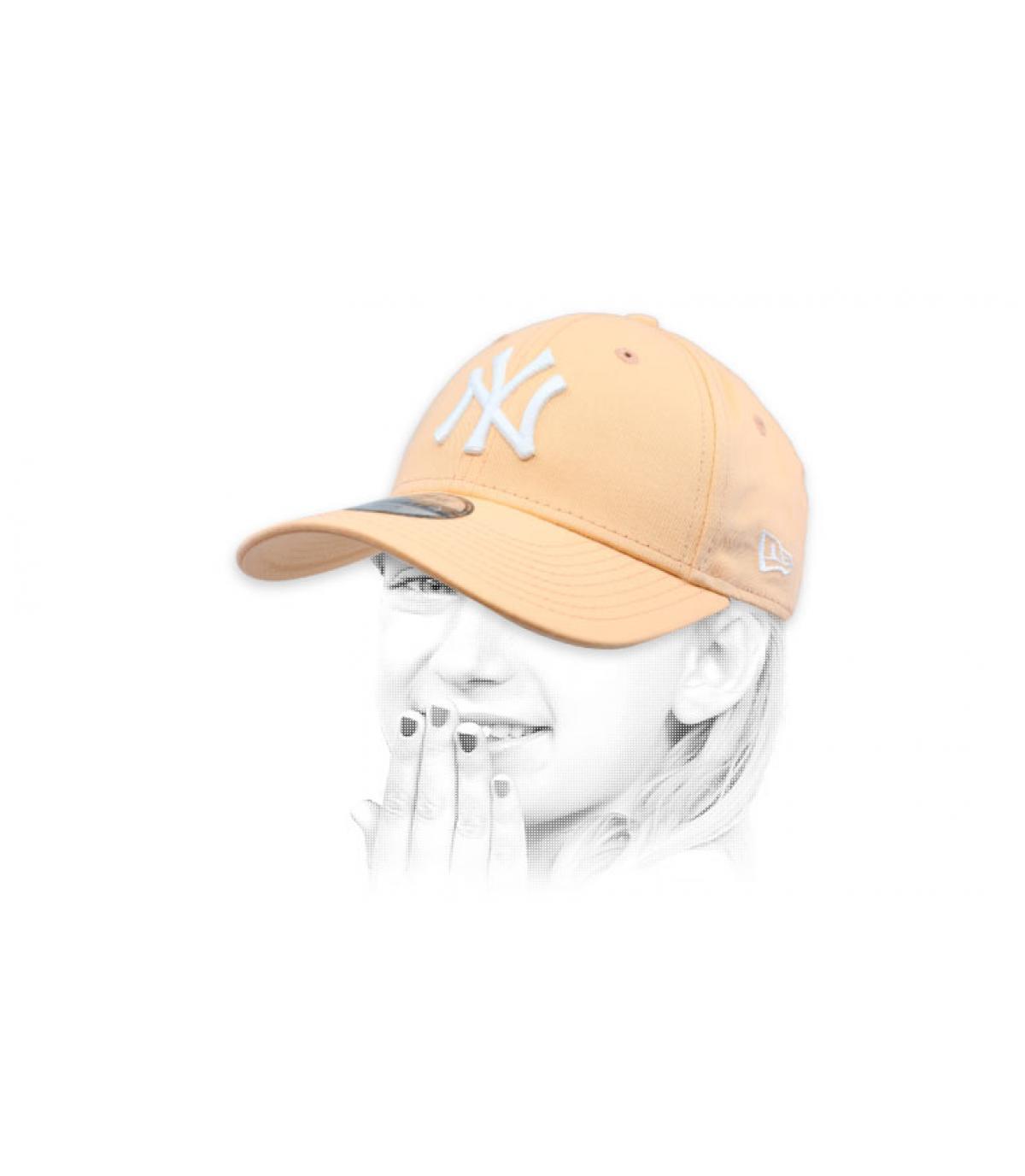 berretto bambino NY rosa