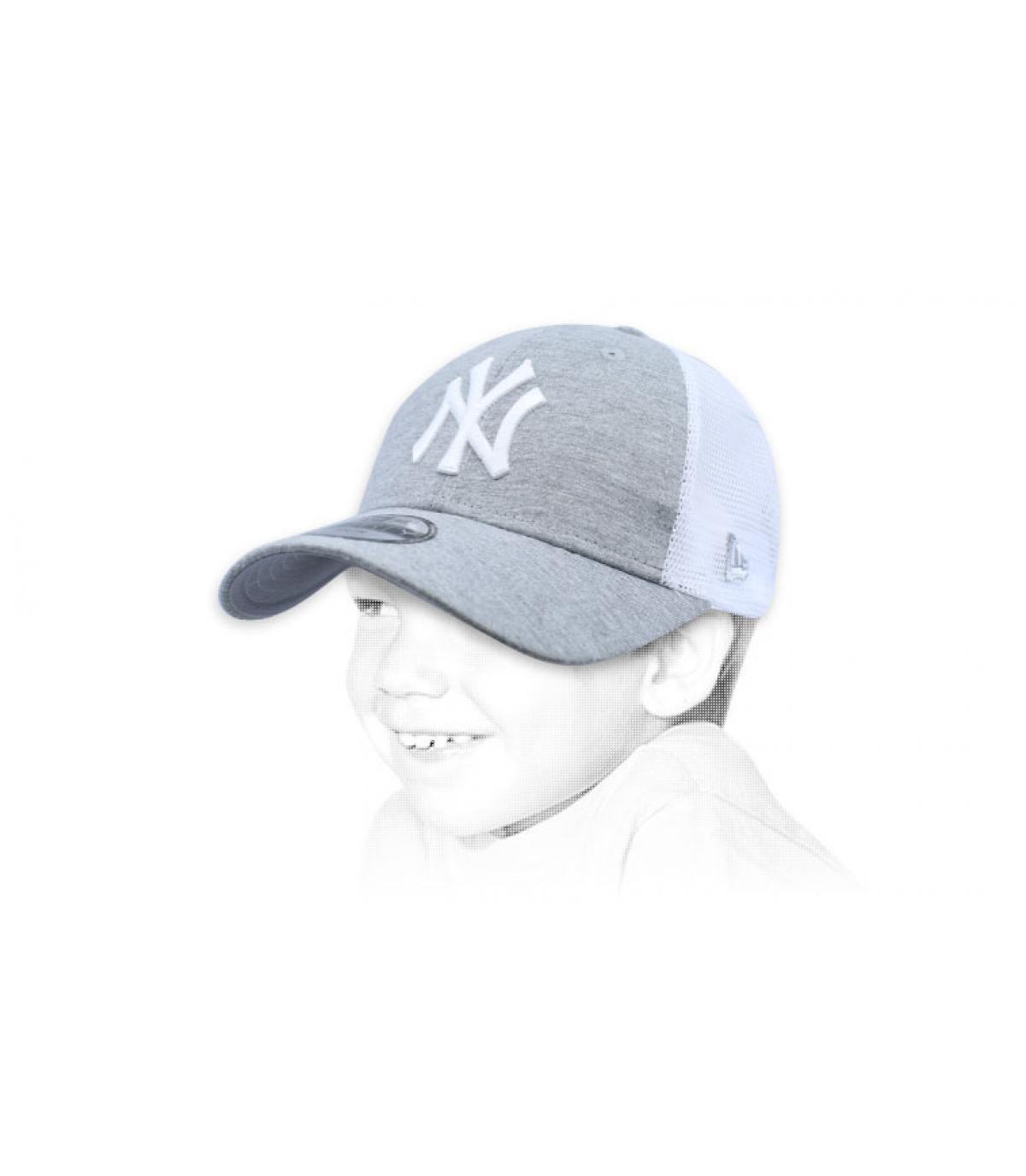 NY bambino trucker grigio