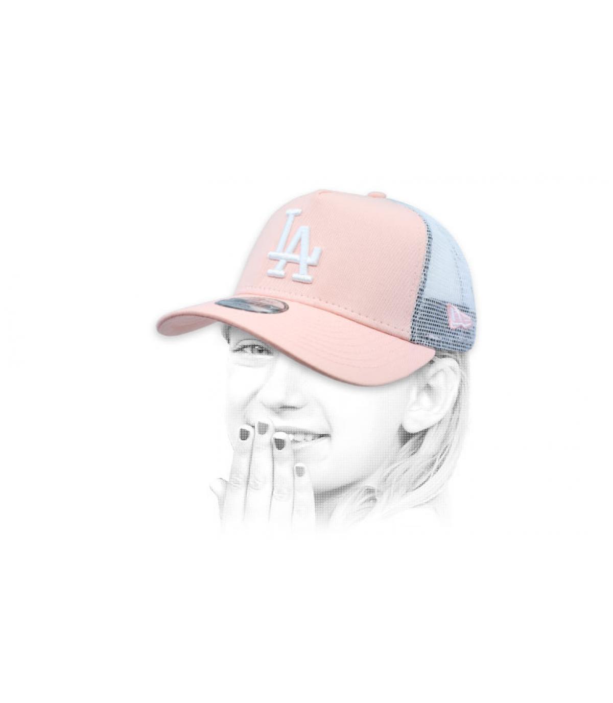 trucker LA bambino rosa