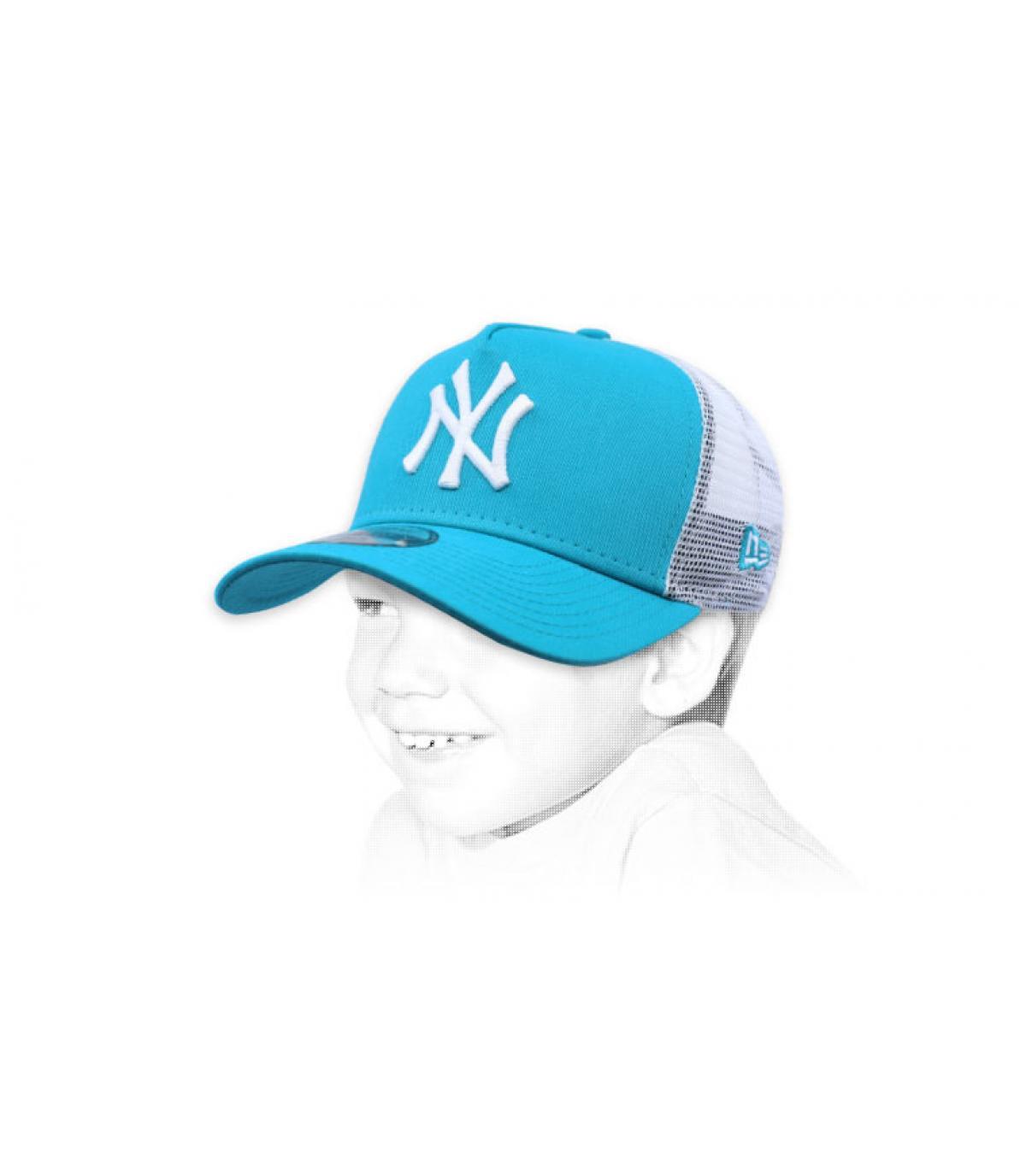 trucker bambino blu NY