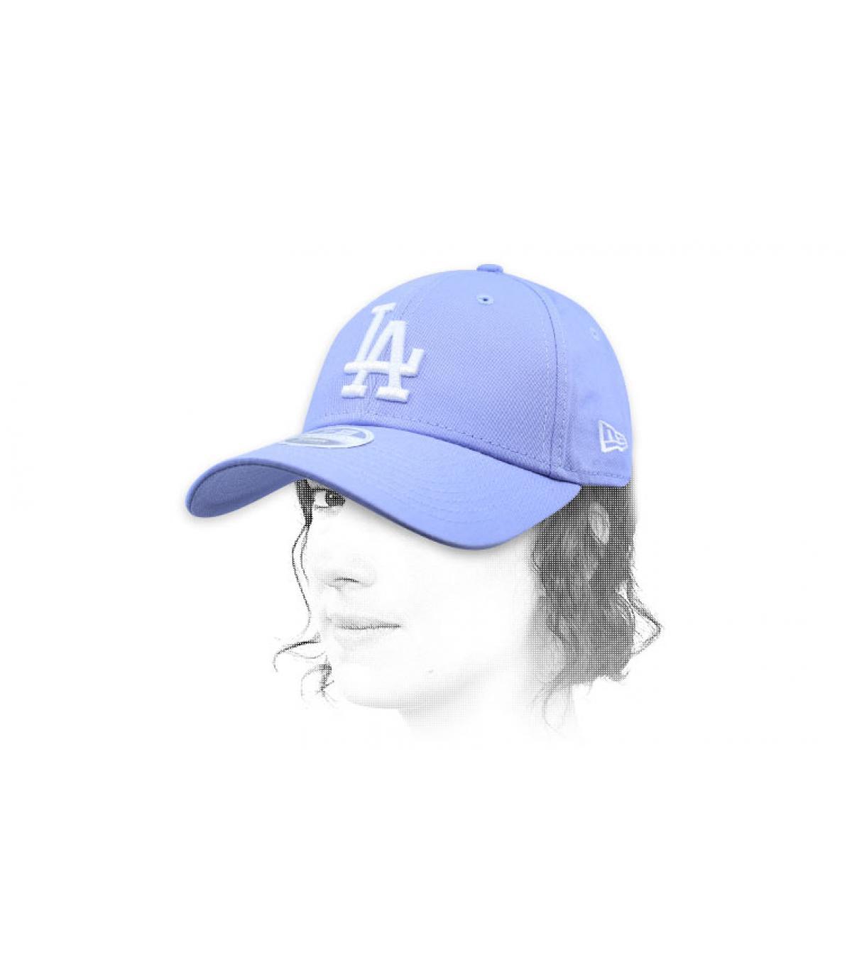 Cappello donna LA in blu