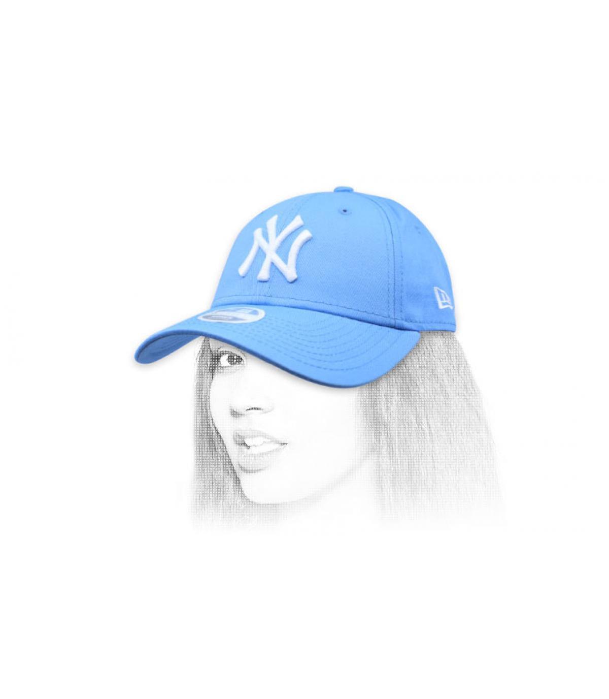 berretto donna NY blu