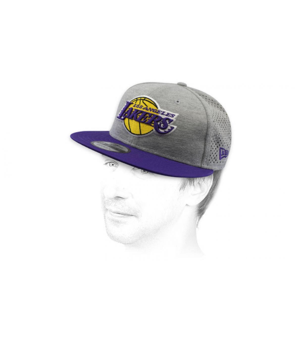 snapback grigio Lakers