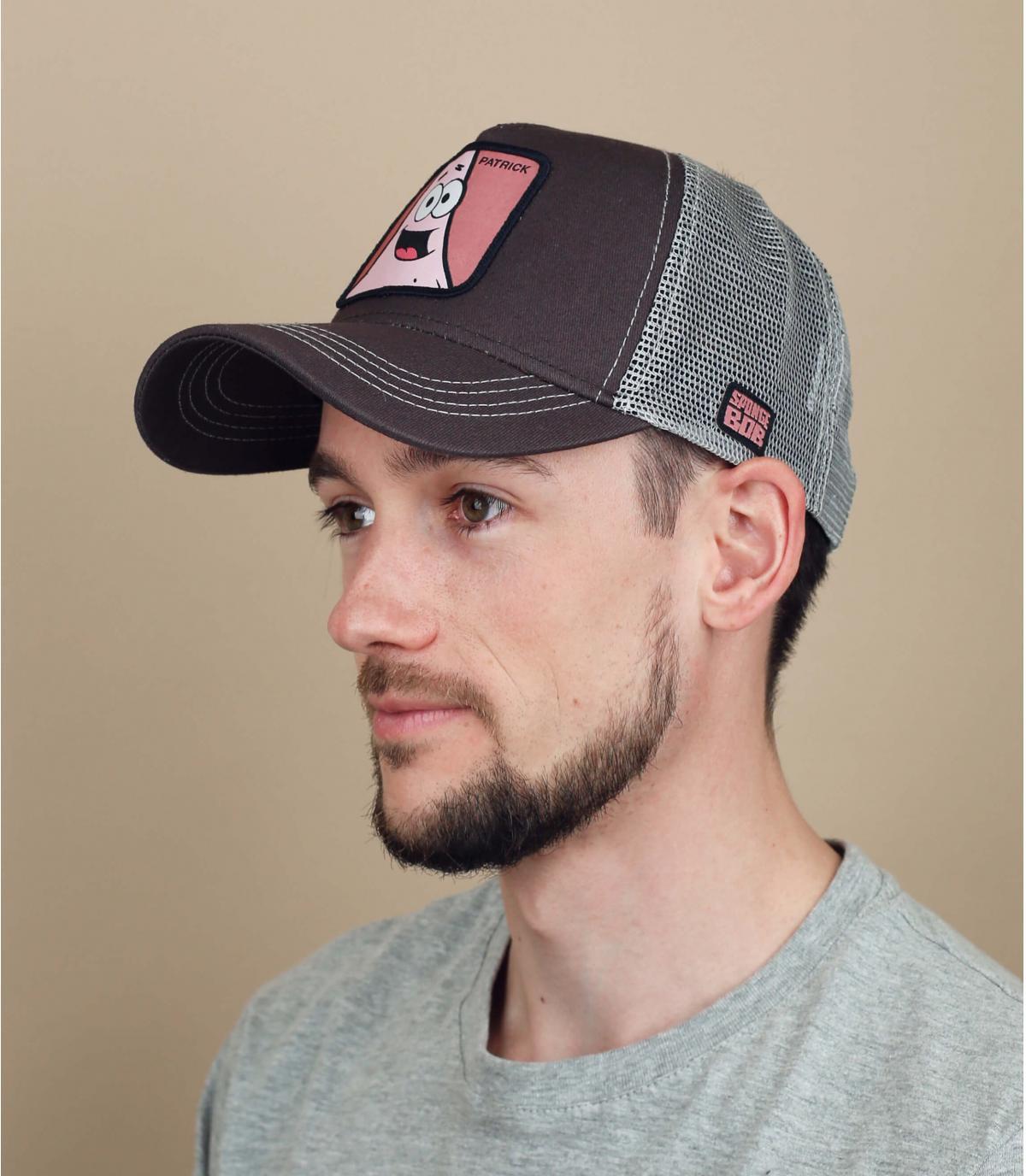trucker grigio rosa Patrick
