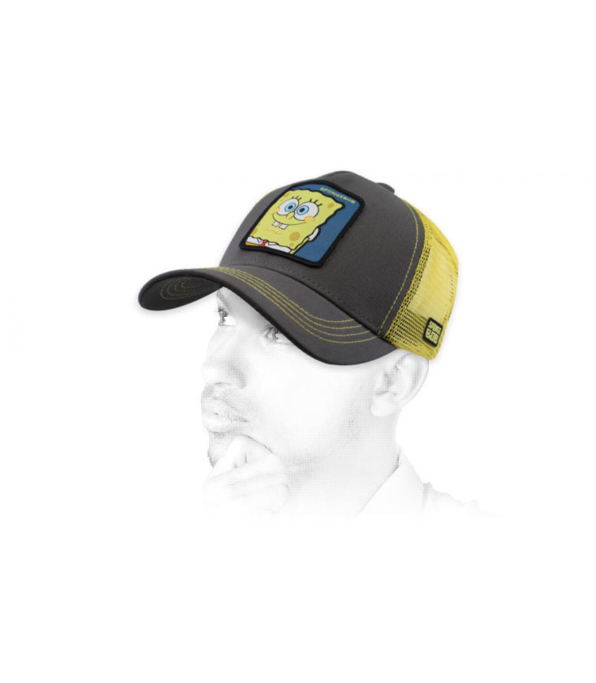 trucker SpongeBob grigio