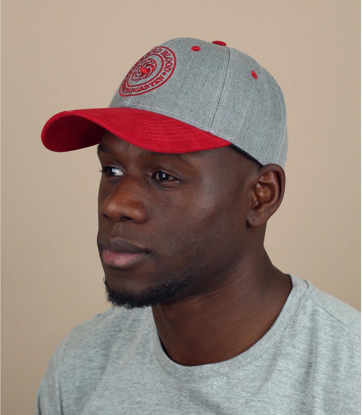 Cappellino Targaryen grigio rosso