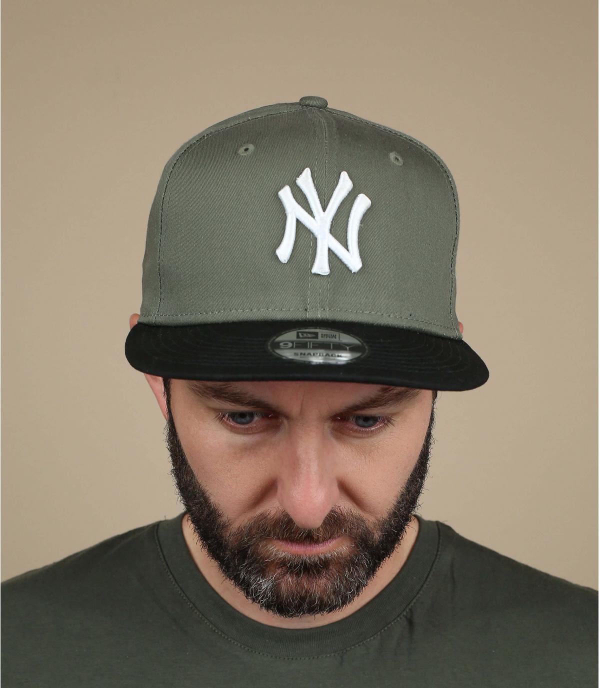 NY snapback verde