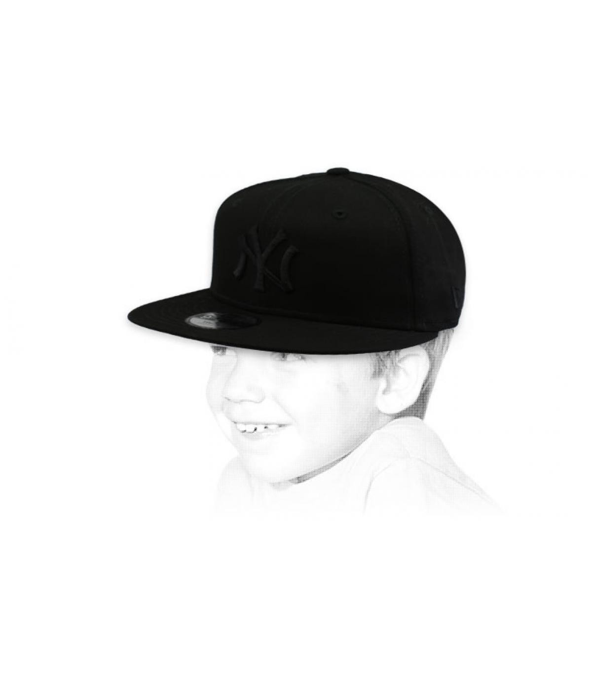 berretto bambino NY nero