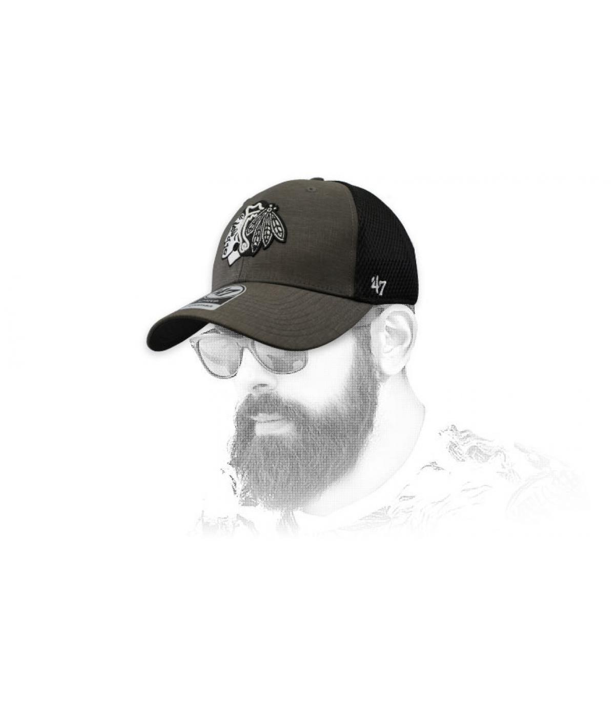 Blackhawks berretto nero grigio