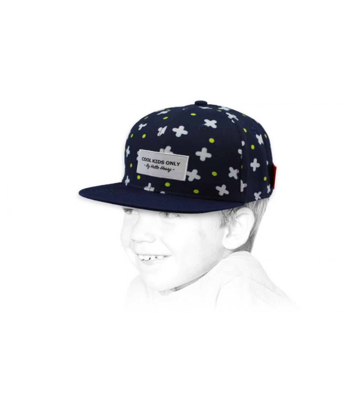 berretto blu bambino