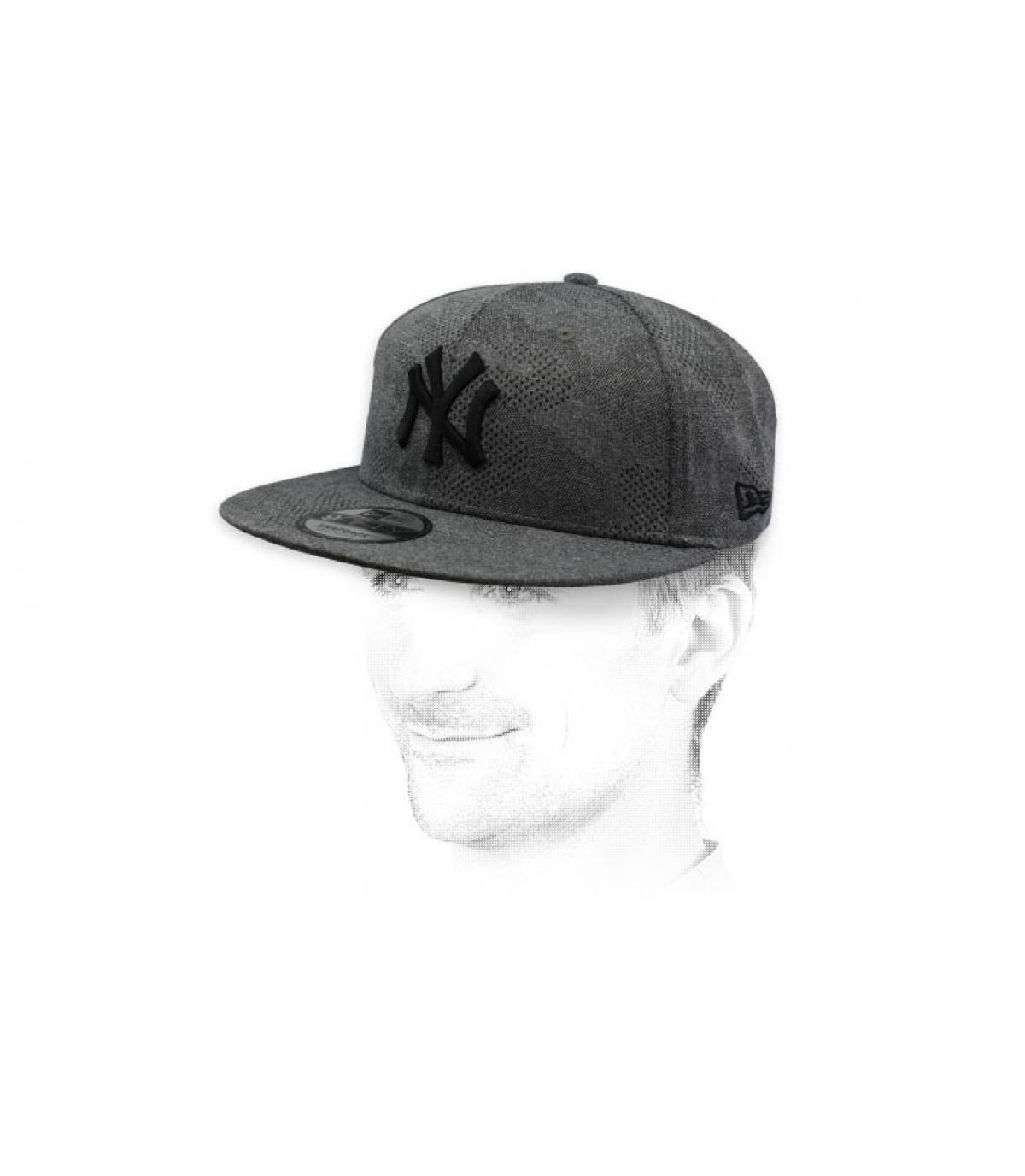 snapback NY grigio nero