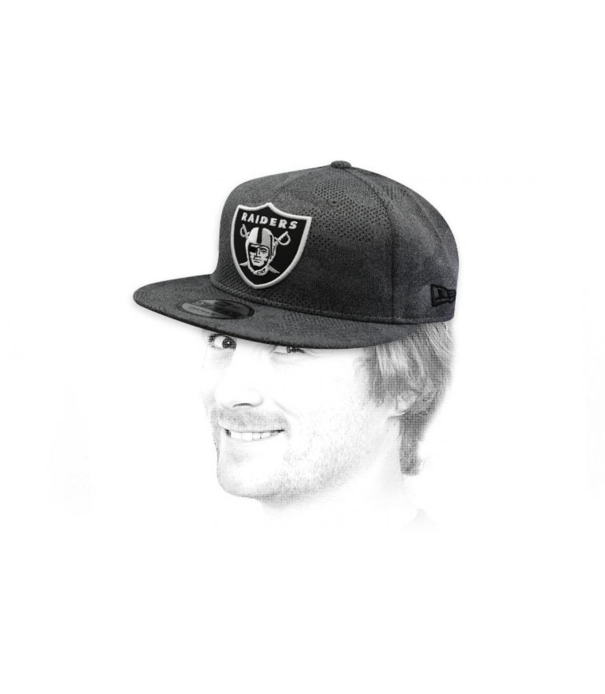 snapback Raiders grigio nero