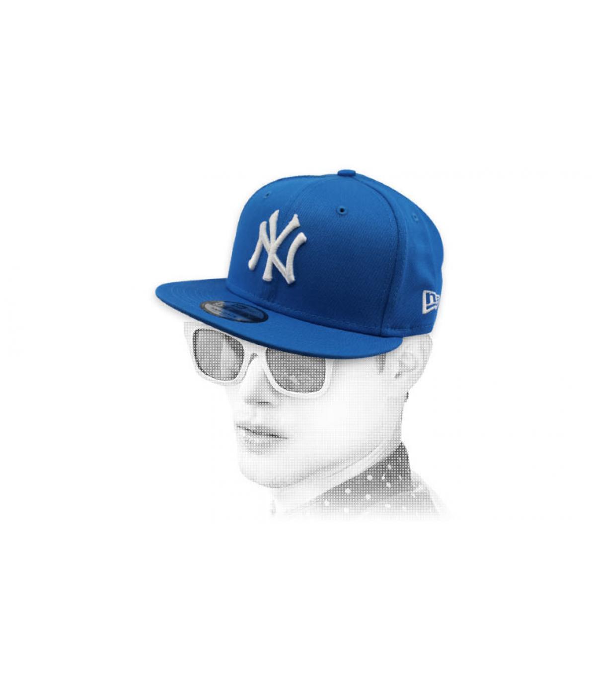 snapback NY blu bianco