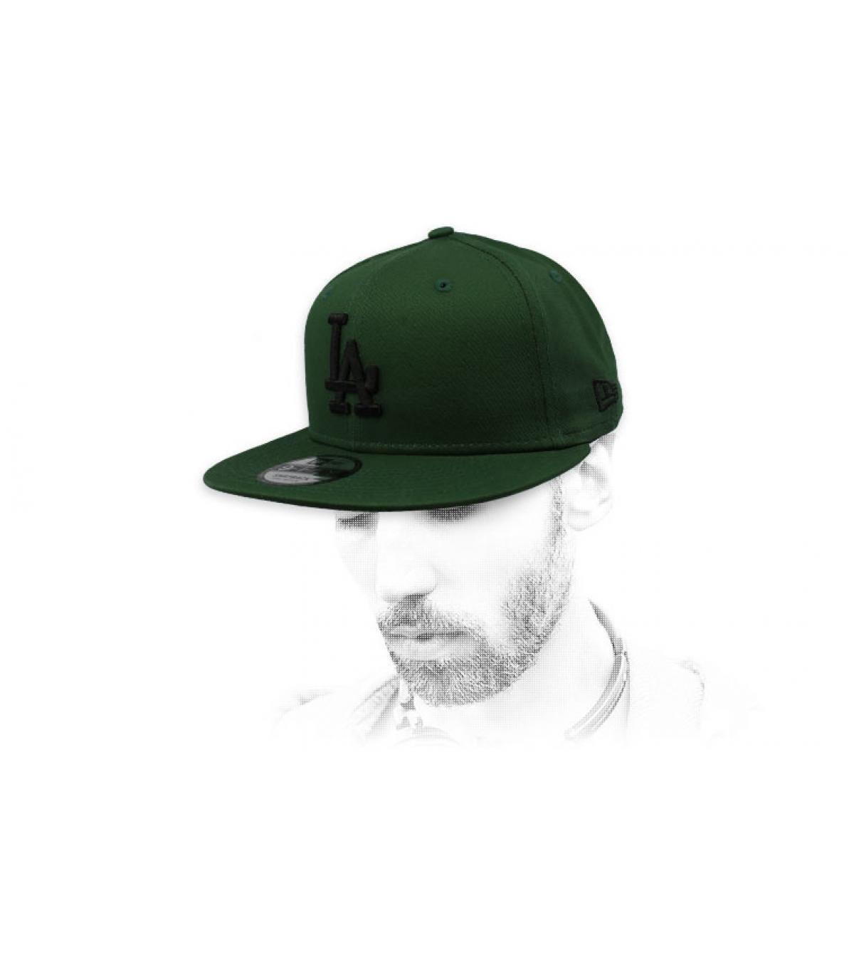 snapback LA nero verde