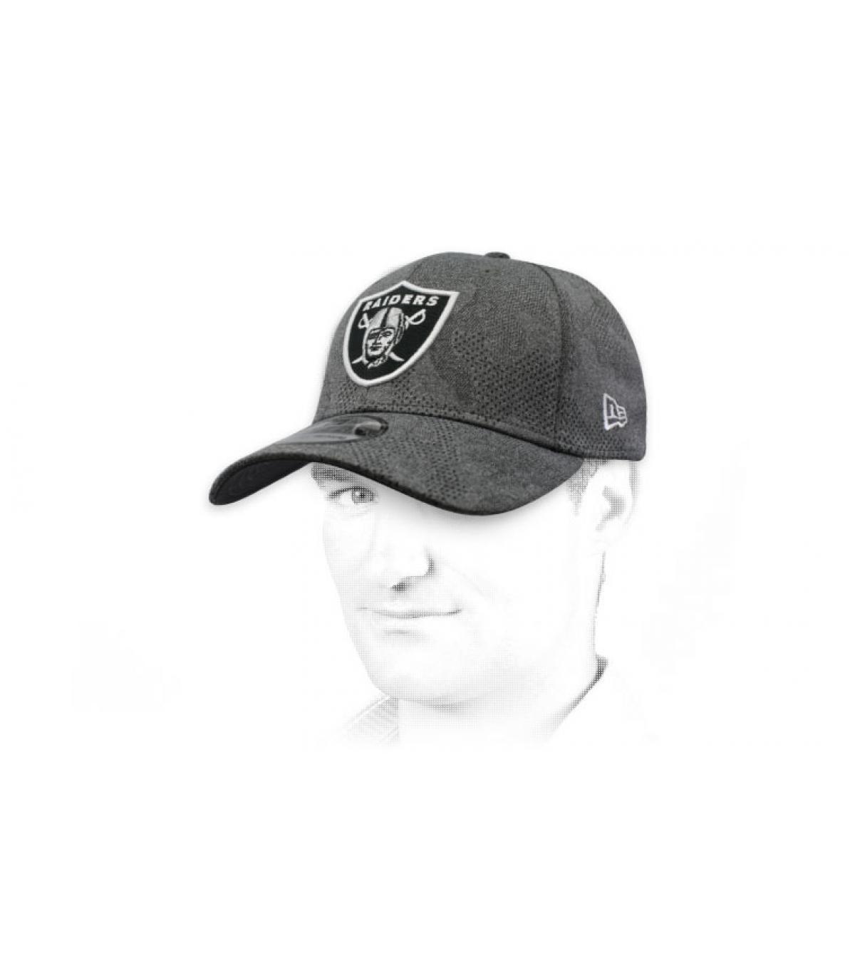 berretto Raiders nero grigio