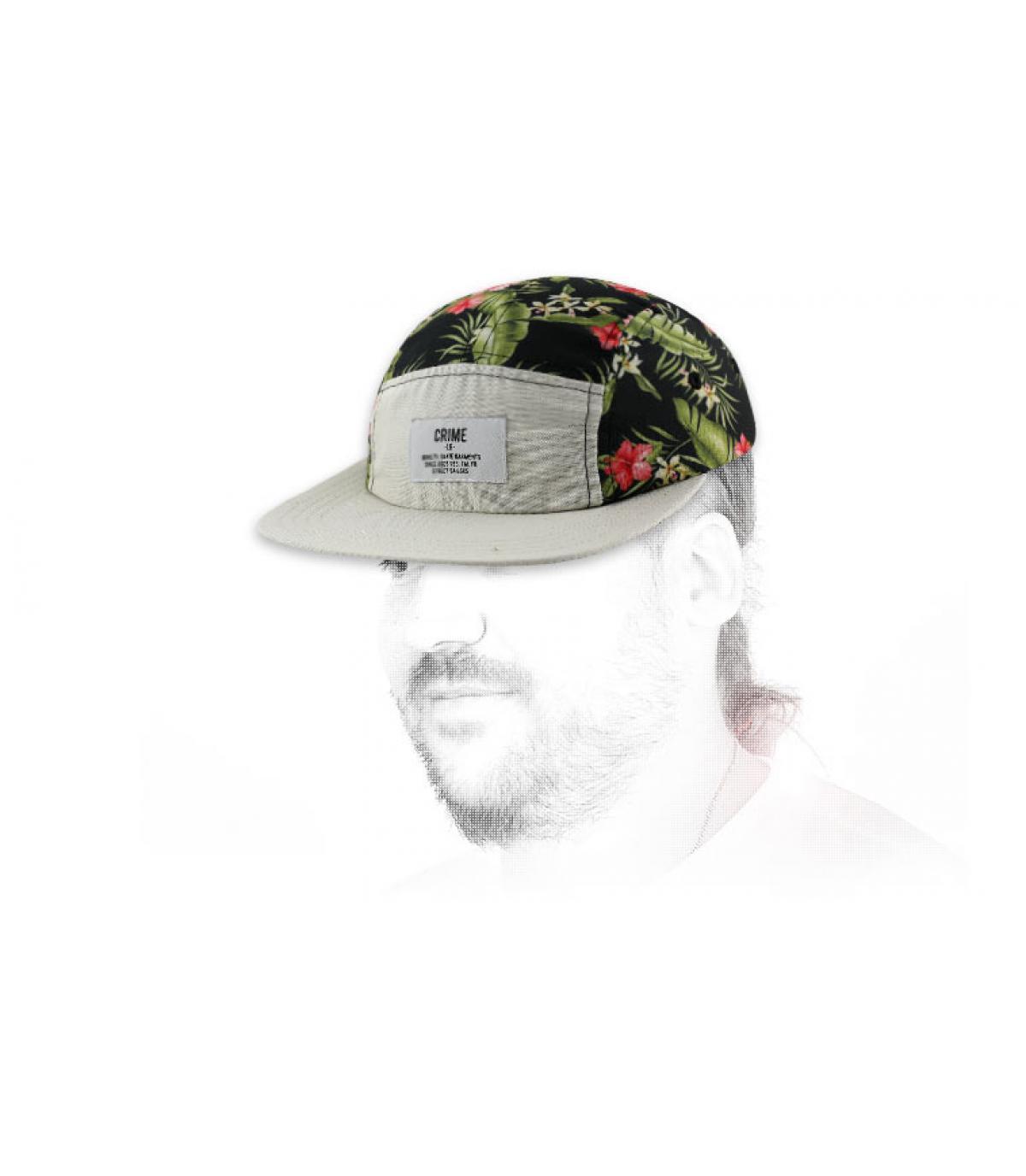 Cappellino Crime floreale
