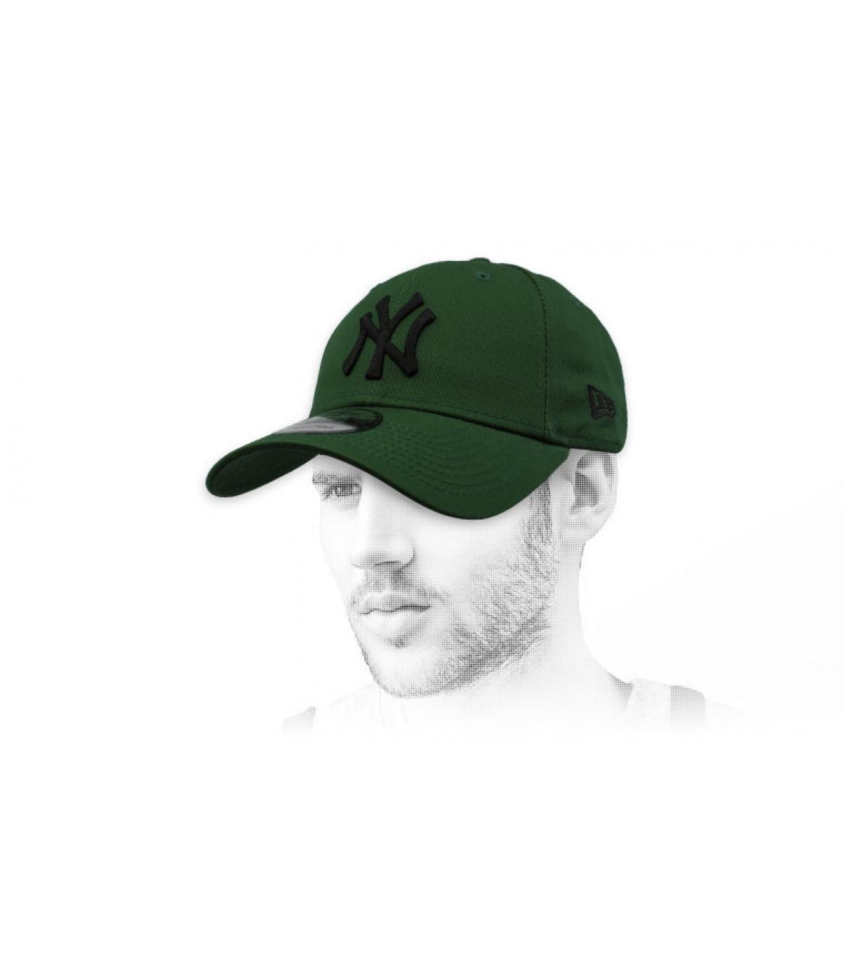 berretto NY nero verde