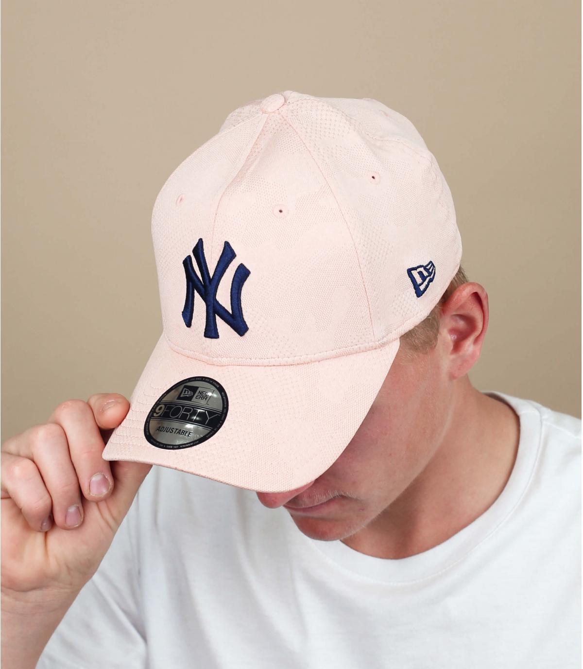 cappuccio NY rosa blu