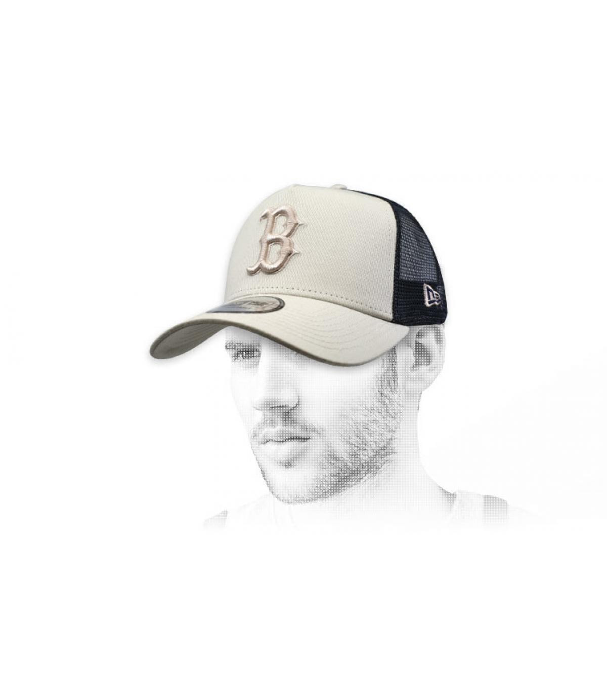 trucker B beige nero