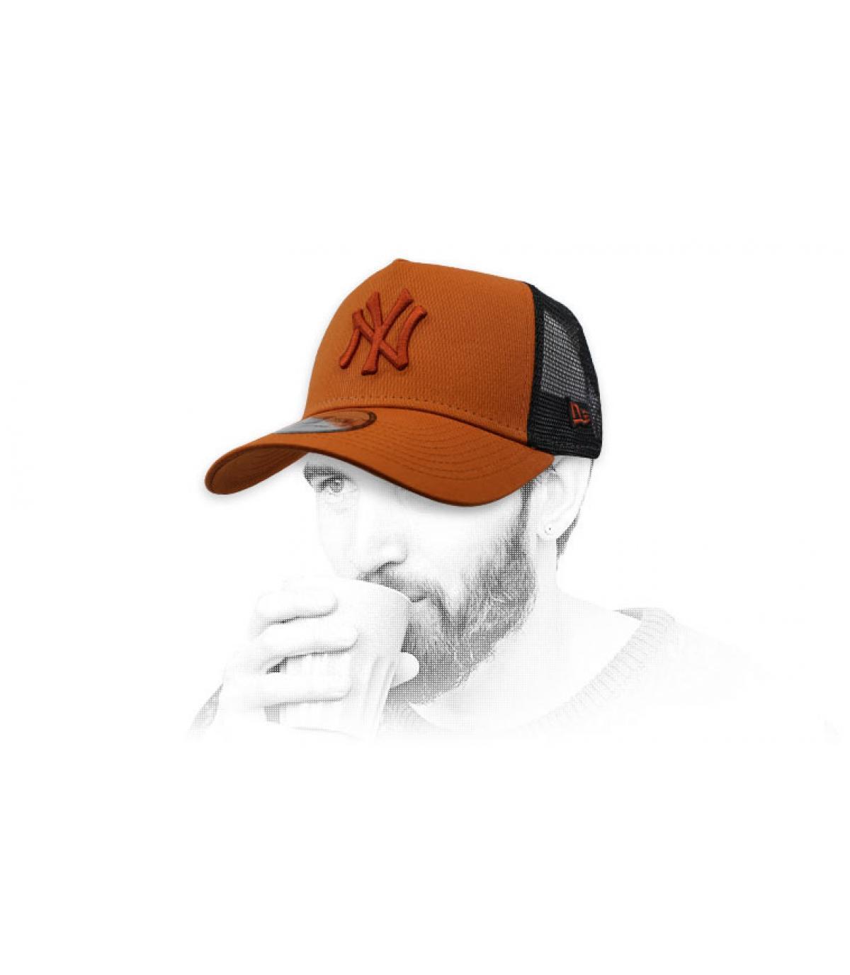 trucker NY marrone nero