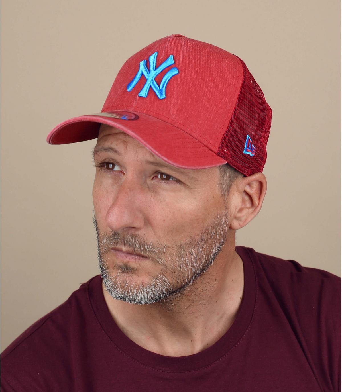 trucker rosso blu NY