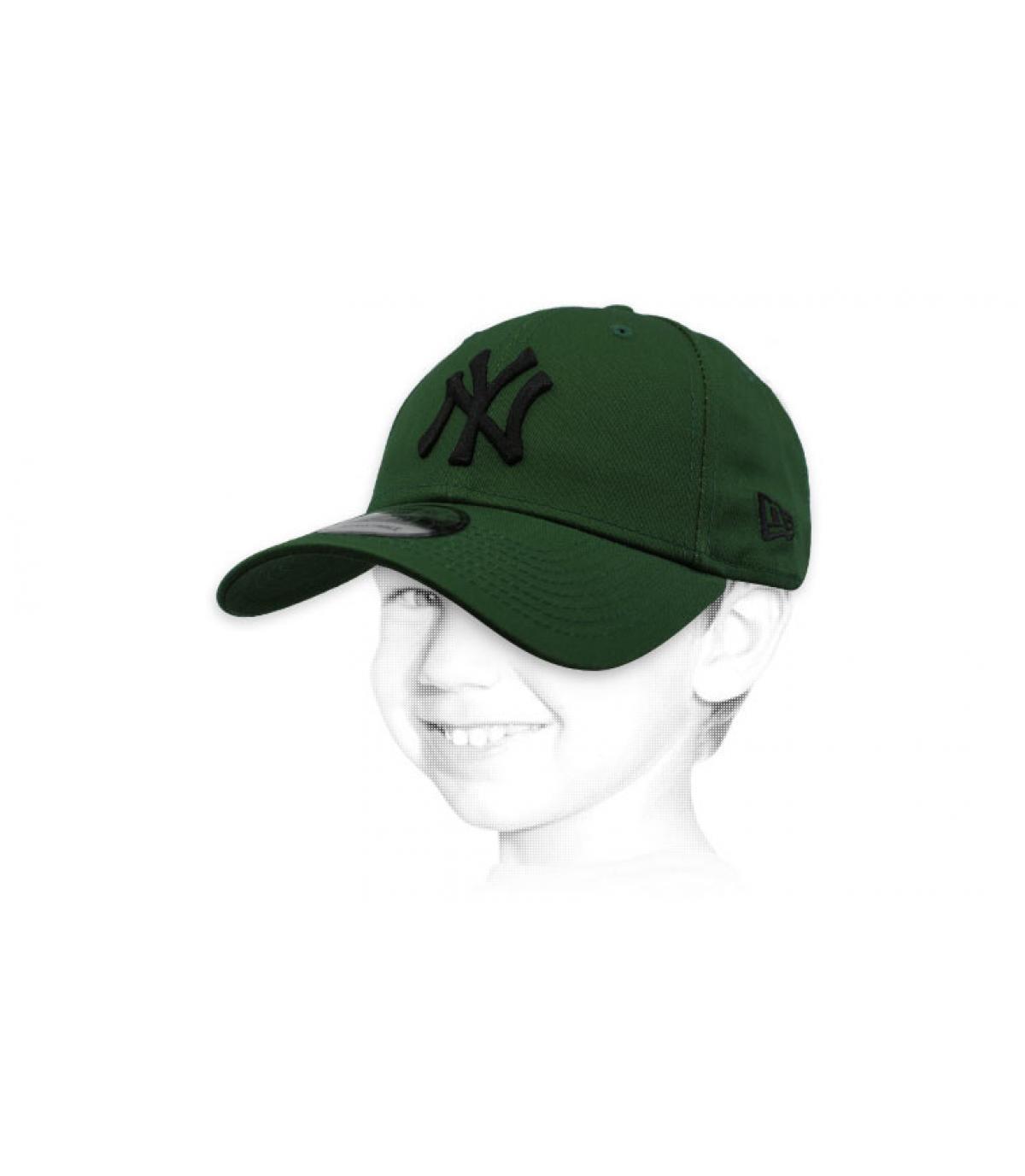 berretto bambino NY verde