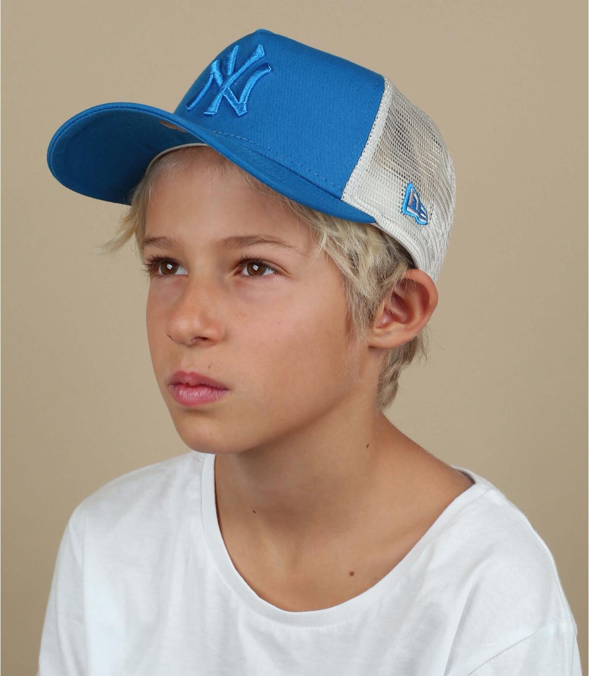 NY trucker bambino blu