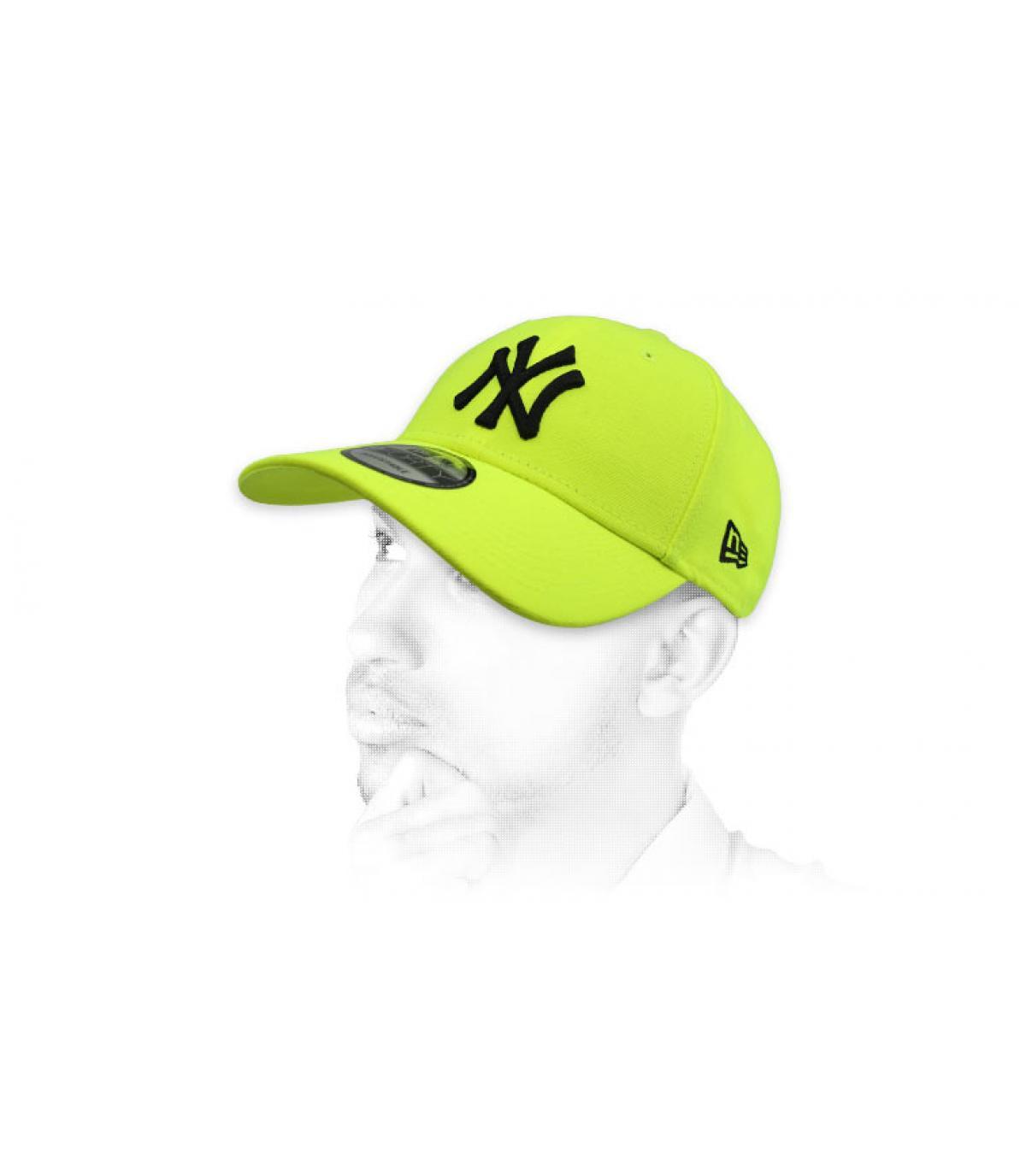 berretto NY neon giallo