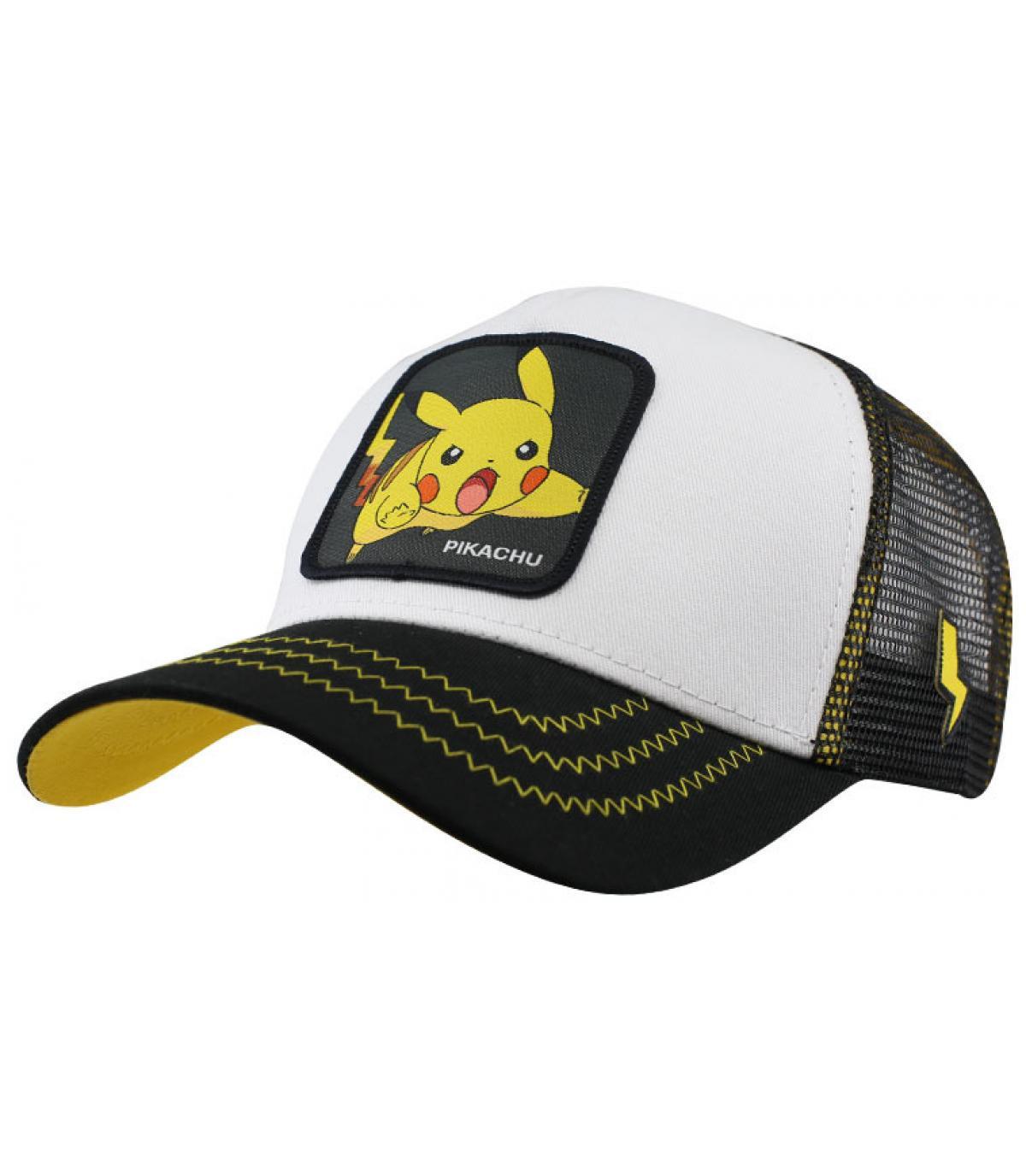 trucker Pikachu nero bianco