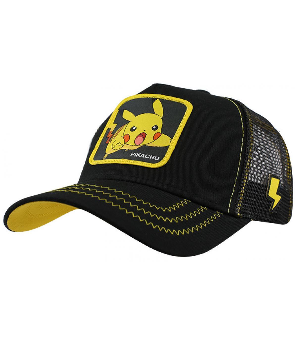 cappellino nero di pikachu