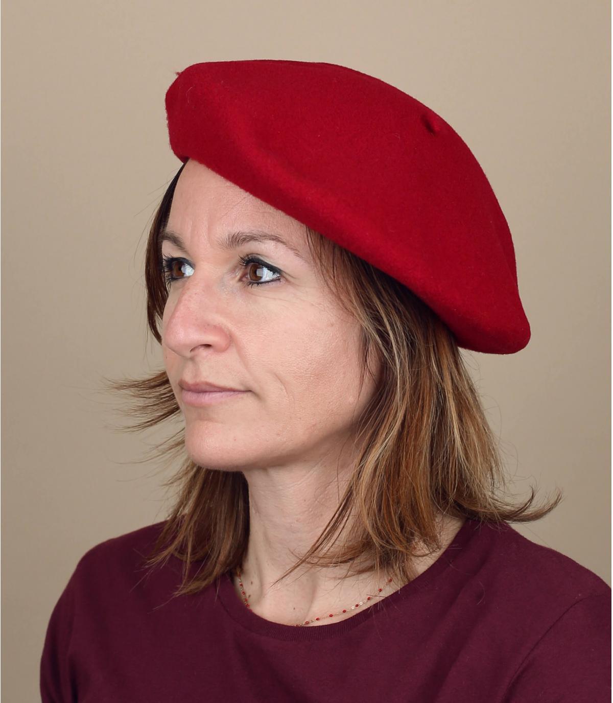 berretto di lana rosa