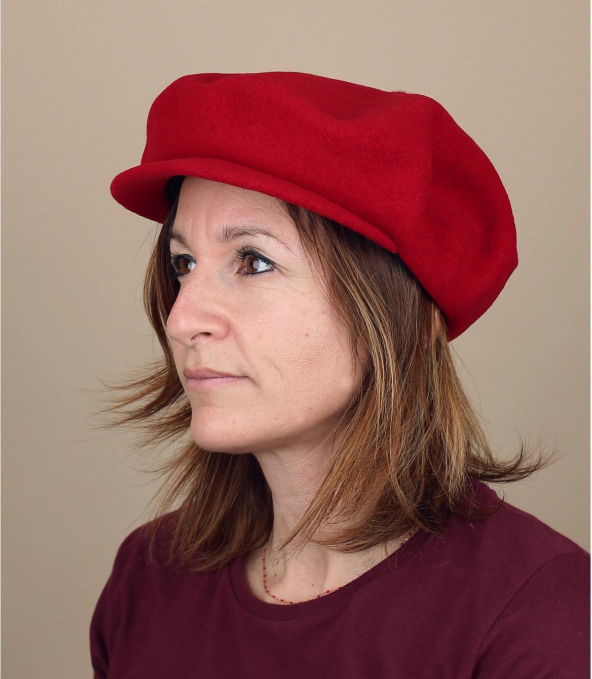 berretto strillone lana rossa