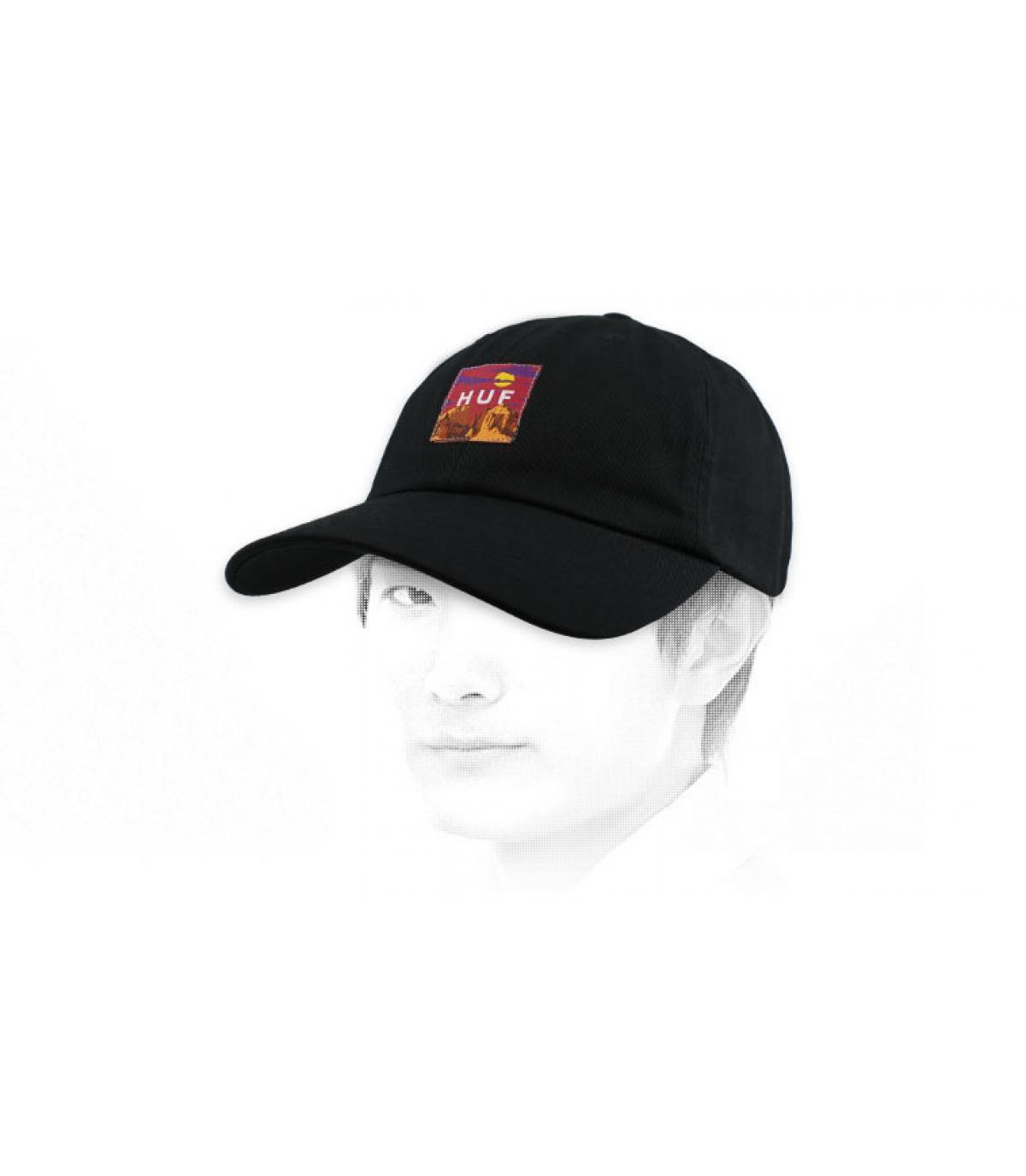 berretto Huf patch nero