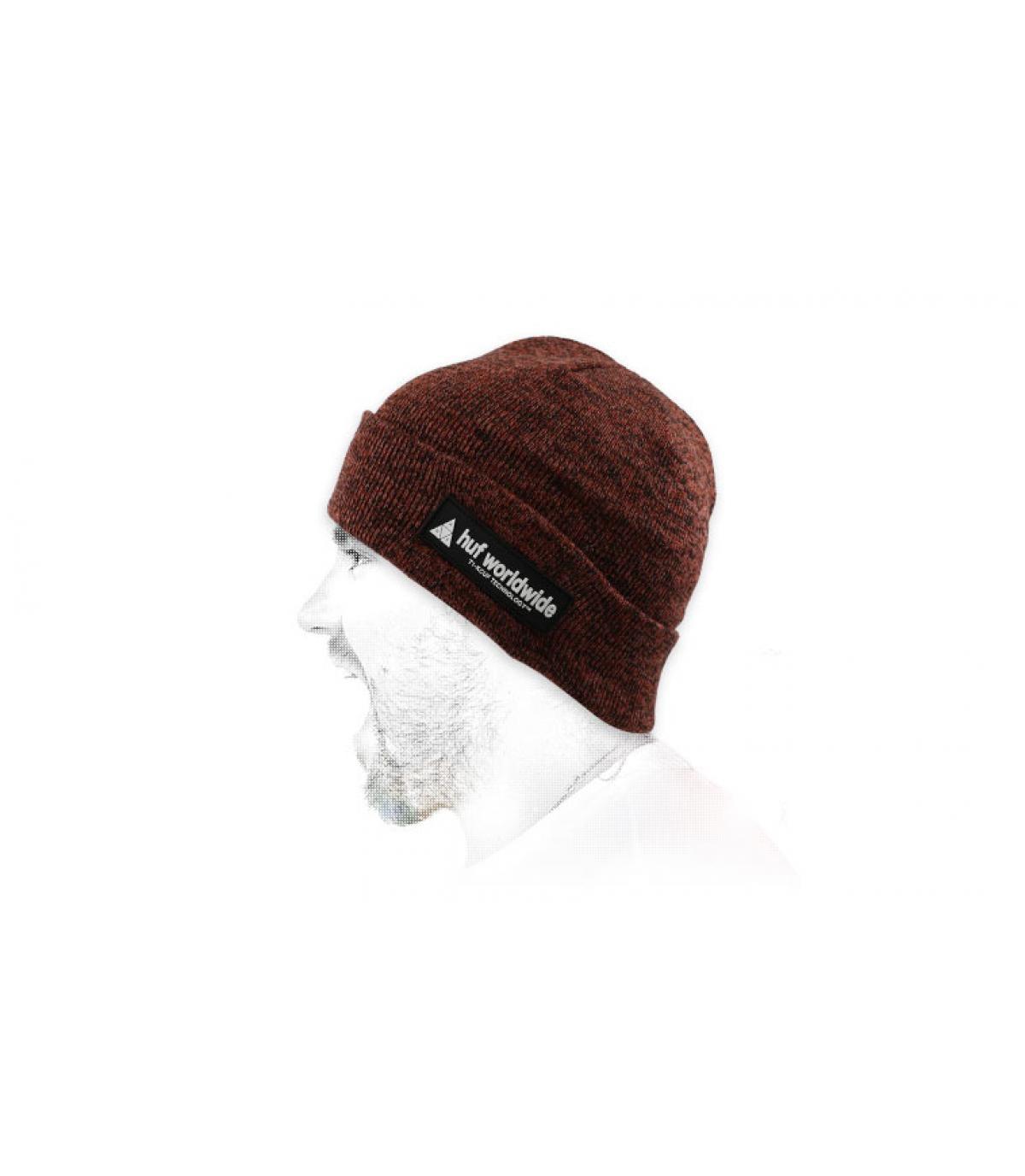 cappello bordeaux bordeaux Huf