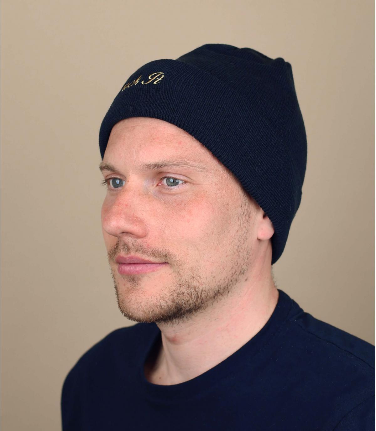Cappello reversibile Huf blu